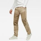 G-Star RAW® 5620 G-Star Elwood Workwear 3D Zip Straight Trousers Beige model front