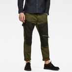 G-Star RAW® 5620 G-Star Elwood Workwear 3D Zip Straight Trousers Green model front