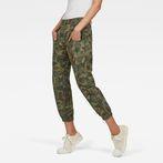 G-Star RAW® Army Radar Mid Waist Boyfriend Ankle Trousers Green model front