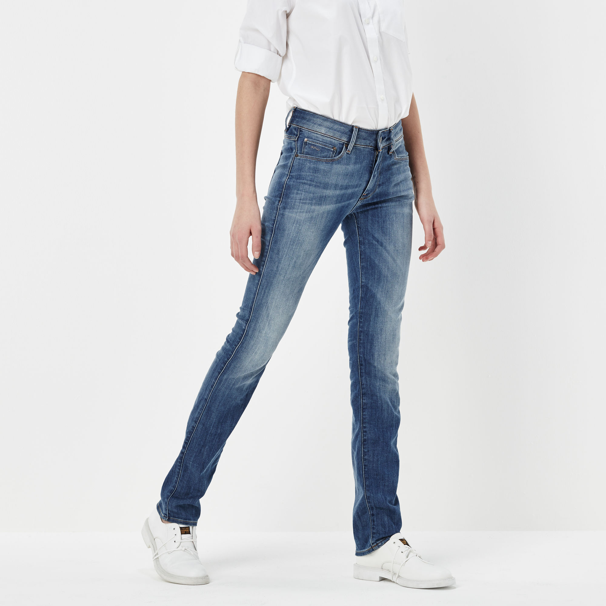 3301 Contour High Straight Jeans