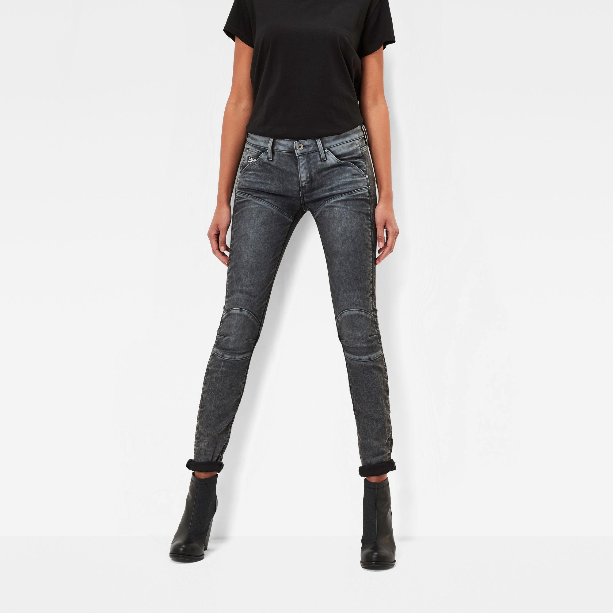 5620 G-Star Elwood 3D Mid Waist Skinny Jeans