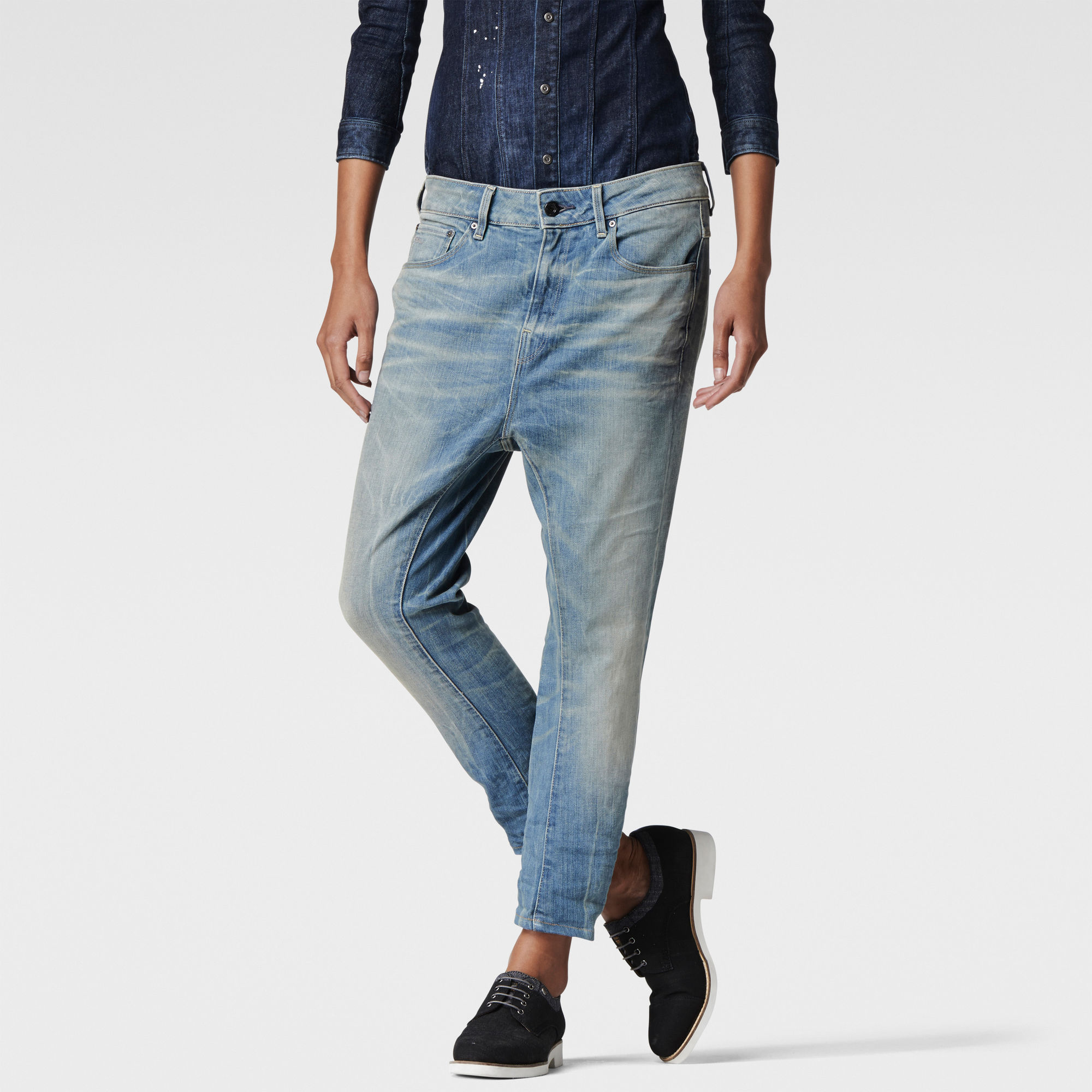 Attacc Low Waist Boyfriend Jeans