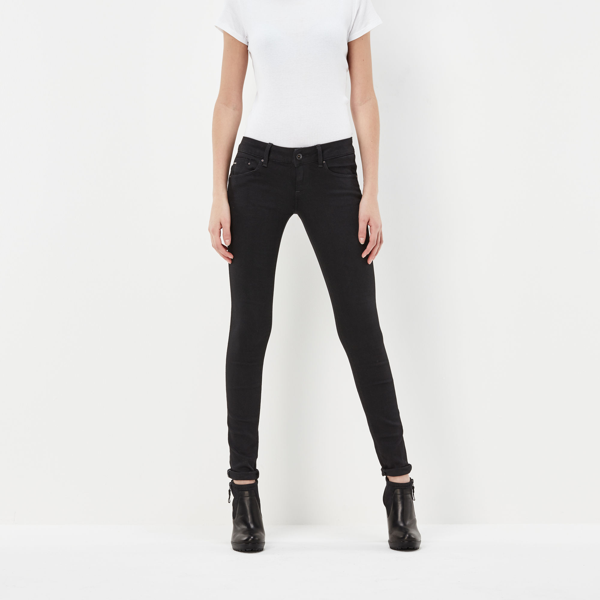 Image of G Star Raw Midge Zip Low Waist Super Skinny Jeans