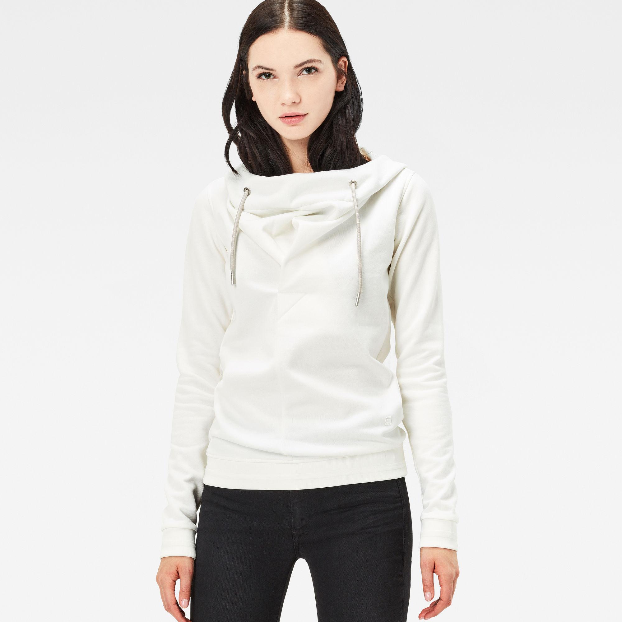 Xarin Slim Drapey Hooded Sweater