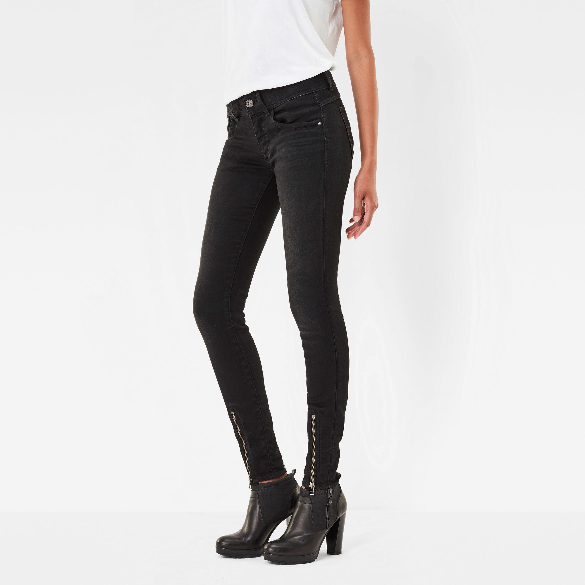 Lynn Zip Grip Mid Waist Skinny Jeans