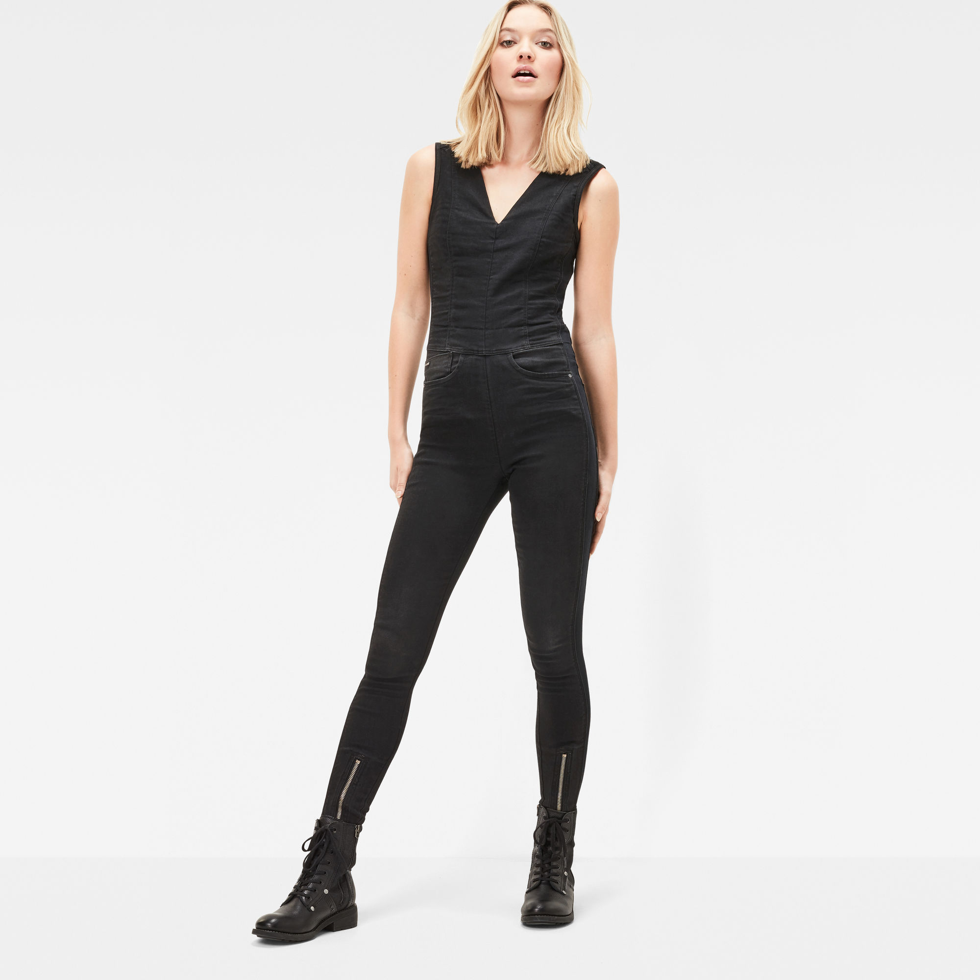 Lynn Zip Grip Slim Jumpsuit