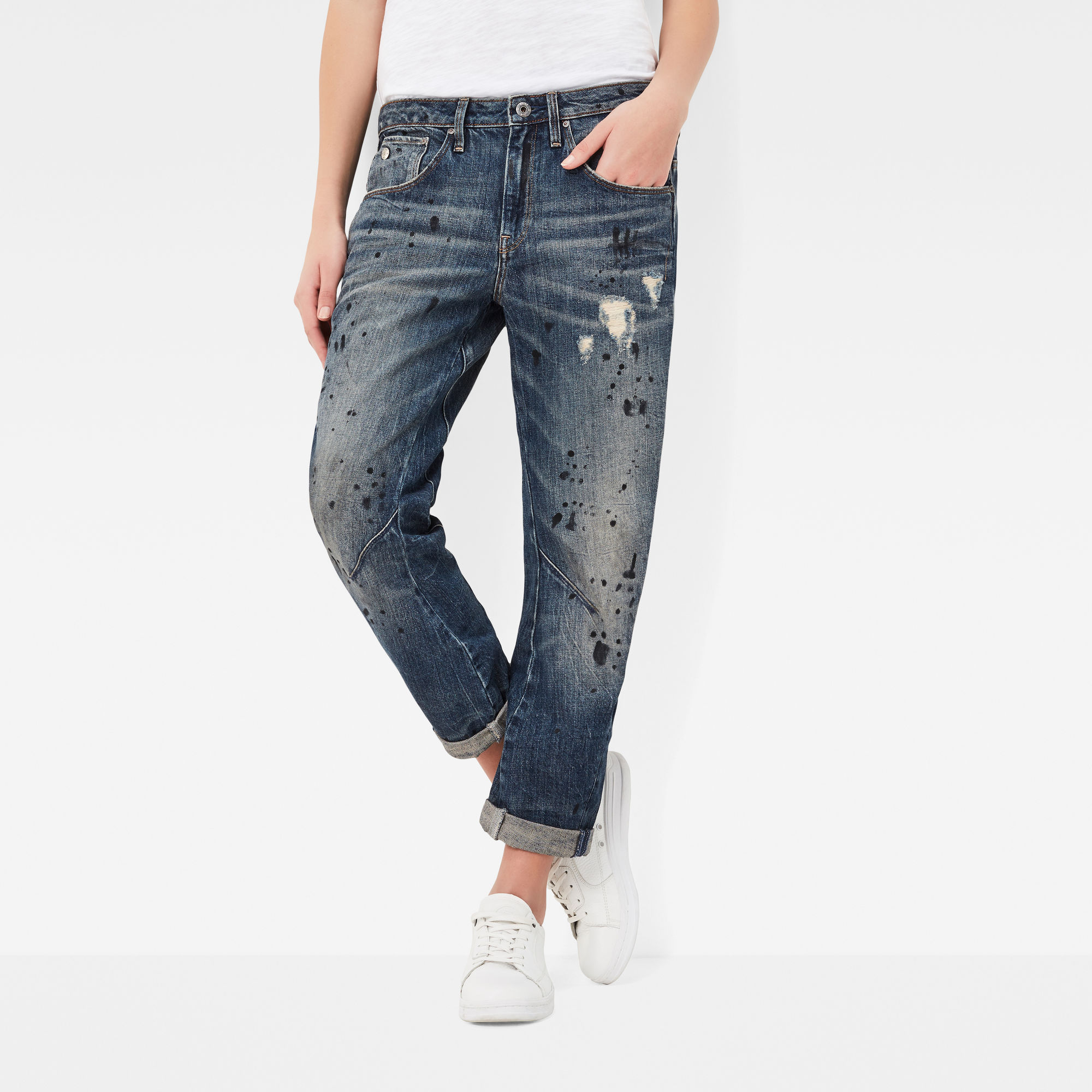 Arc 3D Low Waist Boyfriend 7 8 Length Jeans