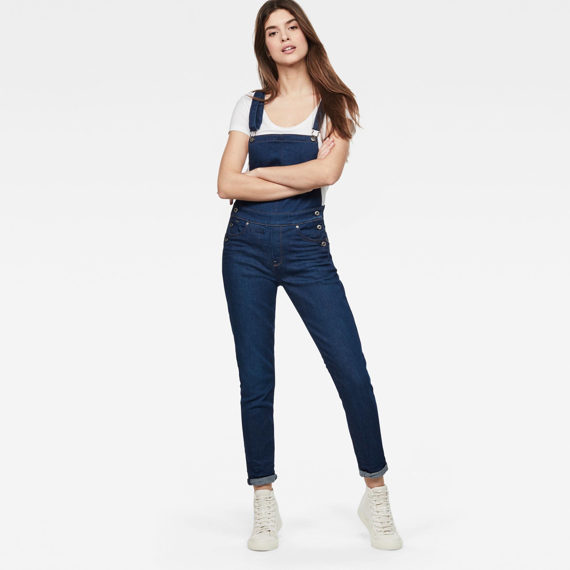 D-Staq 5-Pocket High-Waist Skinny Overalls