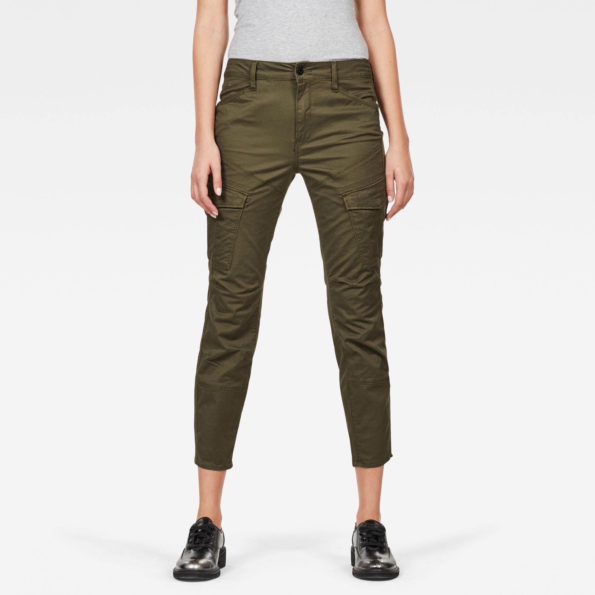 Rovic Mid Waist Skinny Cargo Pants