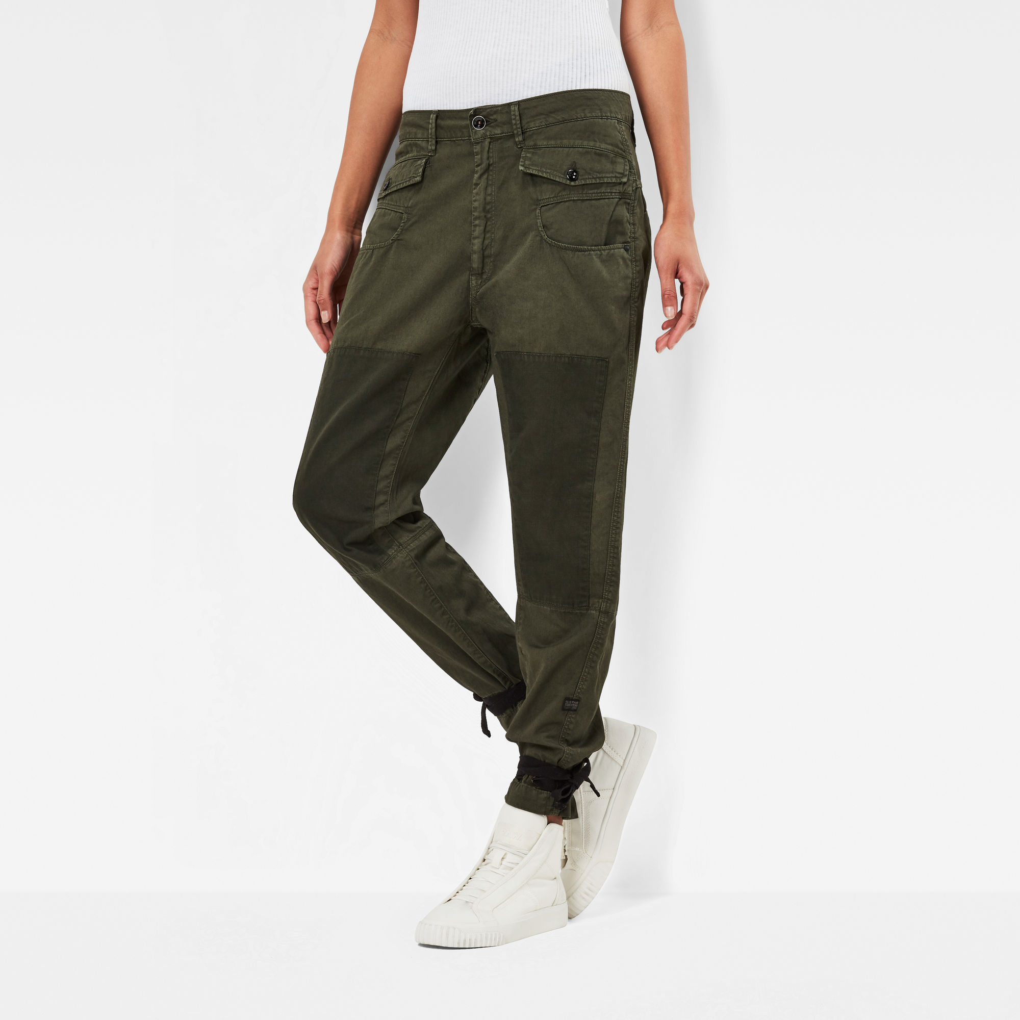 Army Radar Strap Loose Tapered Pants