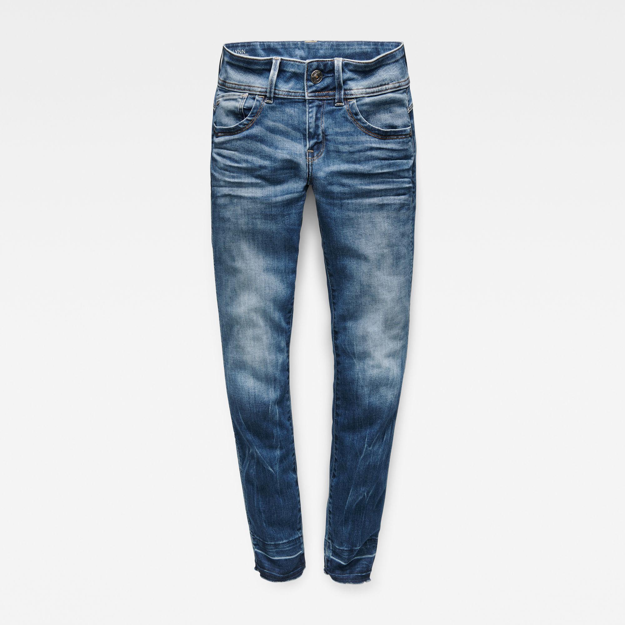Lynn Mid Waist Skinny RP Ankle Jeans