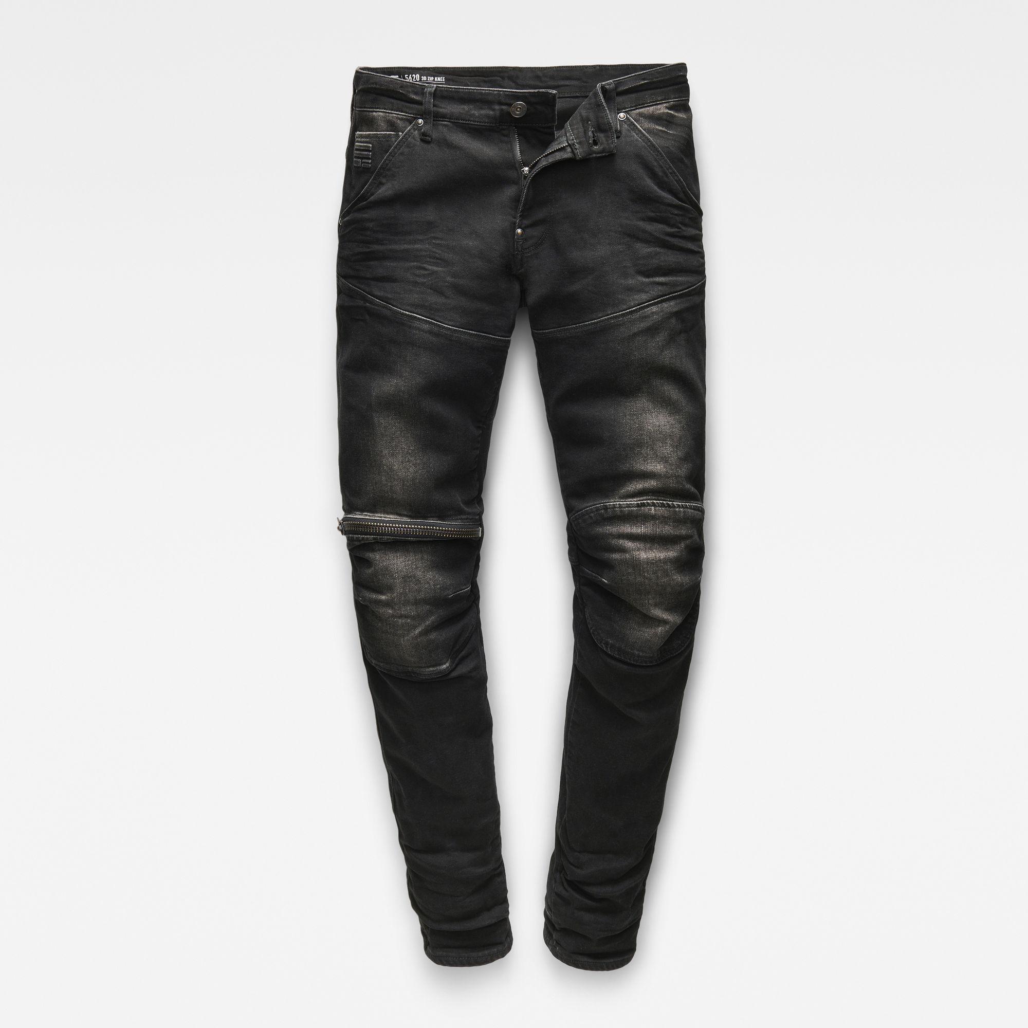 5620 G-Star Elwood 3D Zip Knee Super Slim Jeans