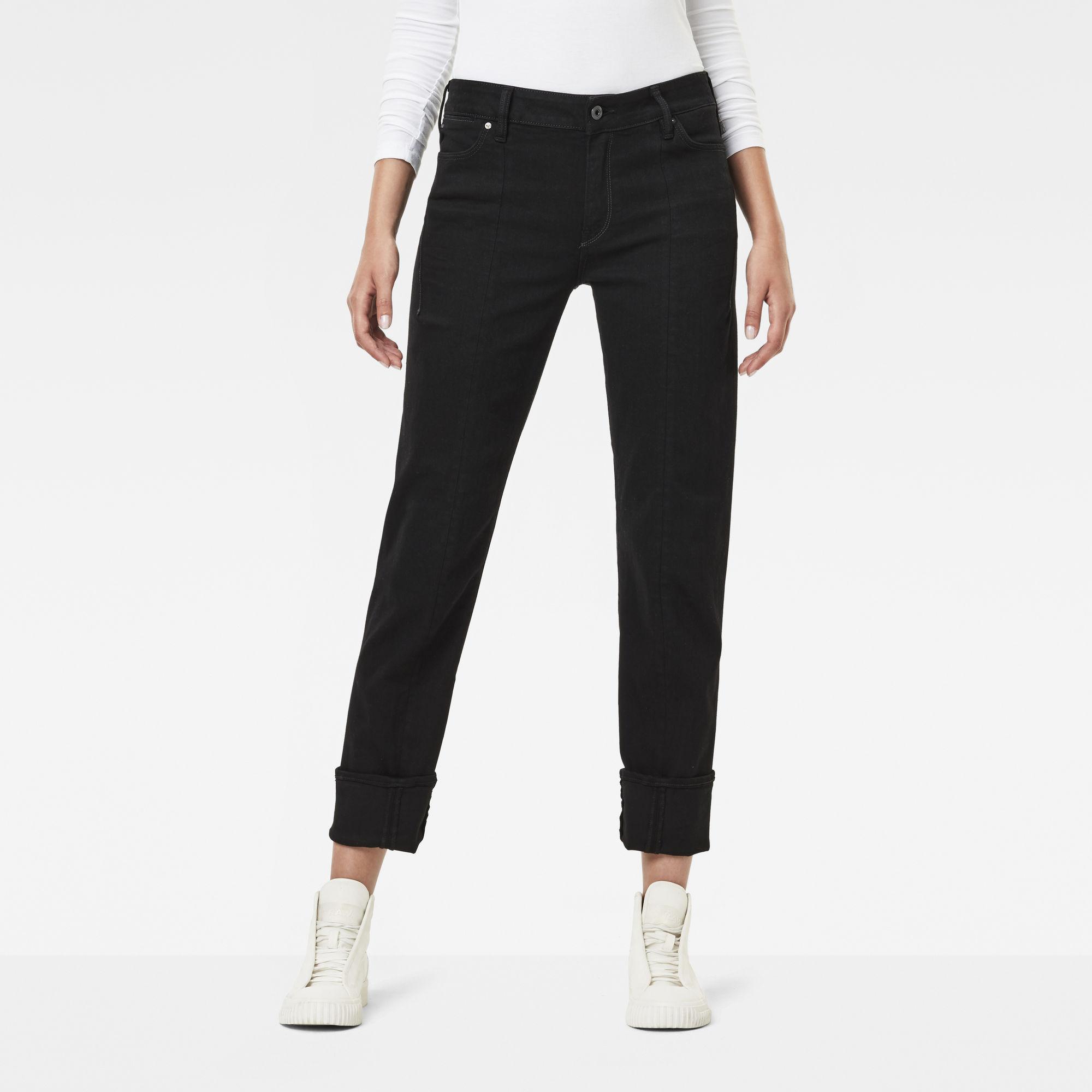 Lanc 3D High-Waist Straight Jeans