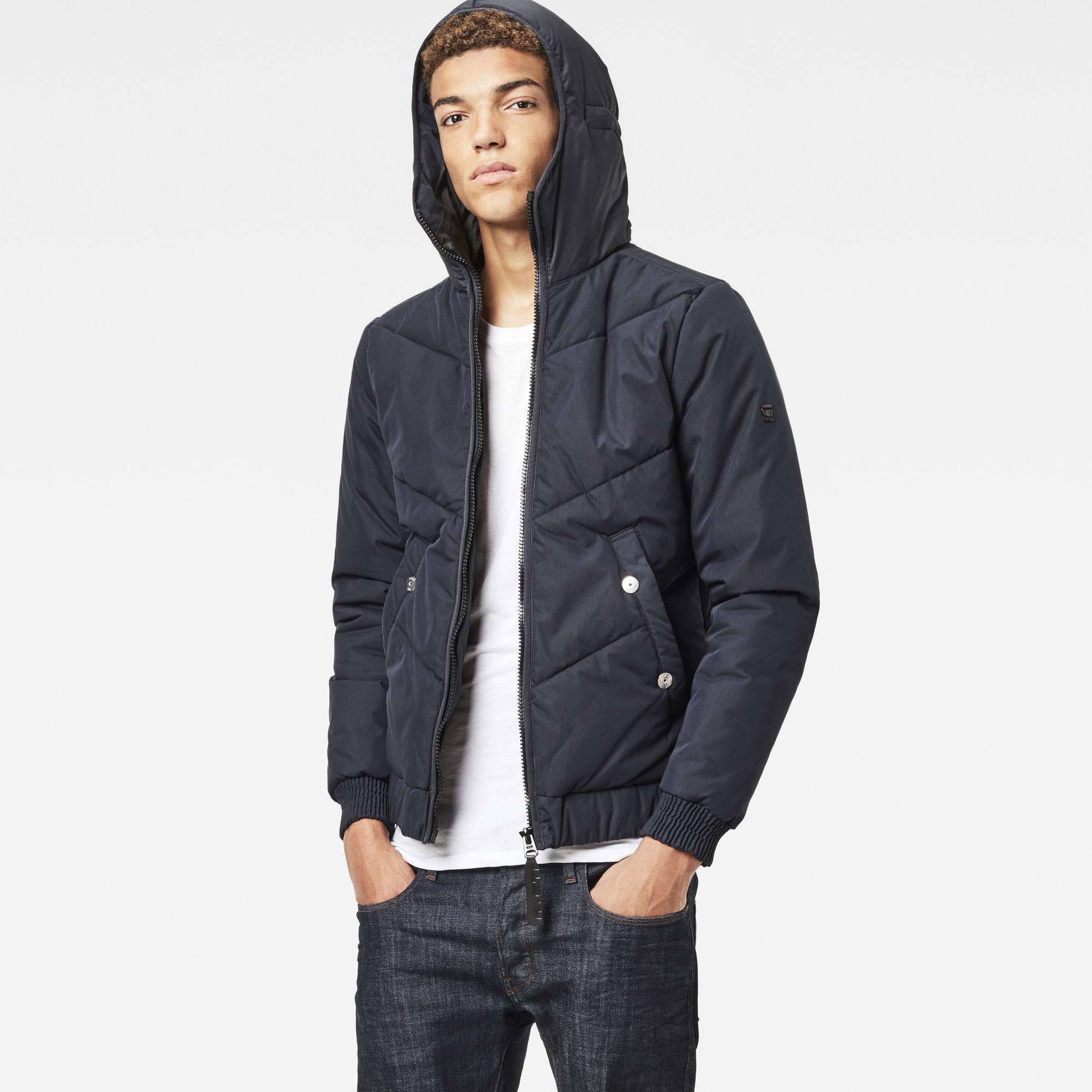 Strett Chevron Hooded Jacket