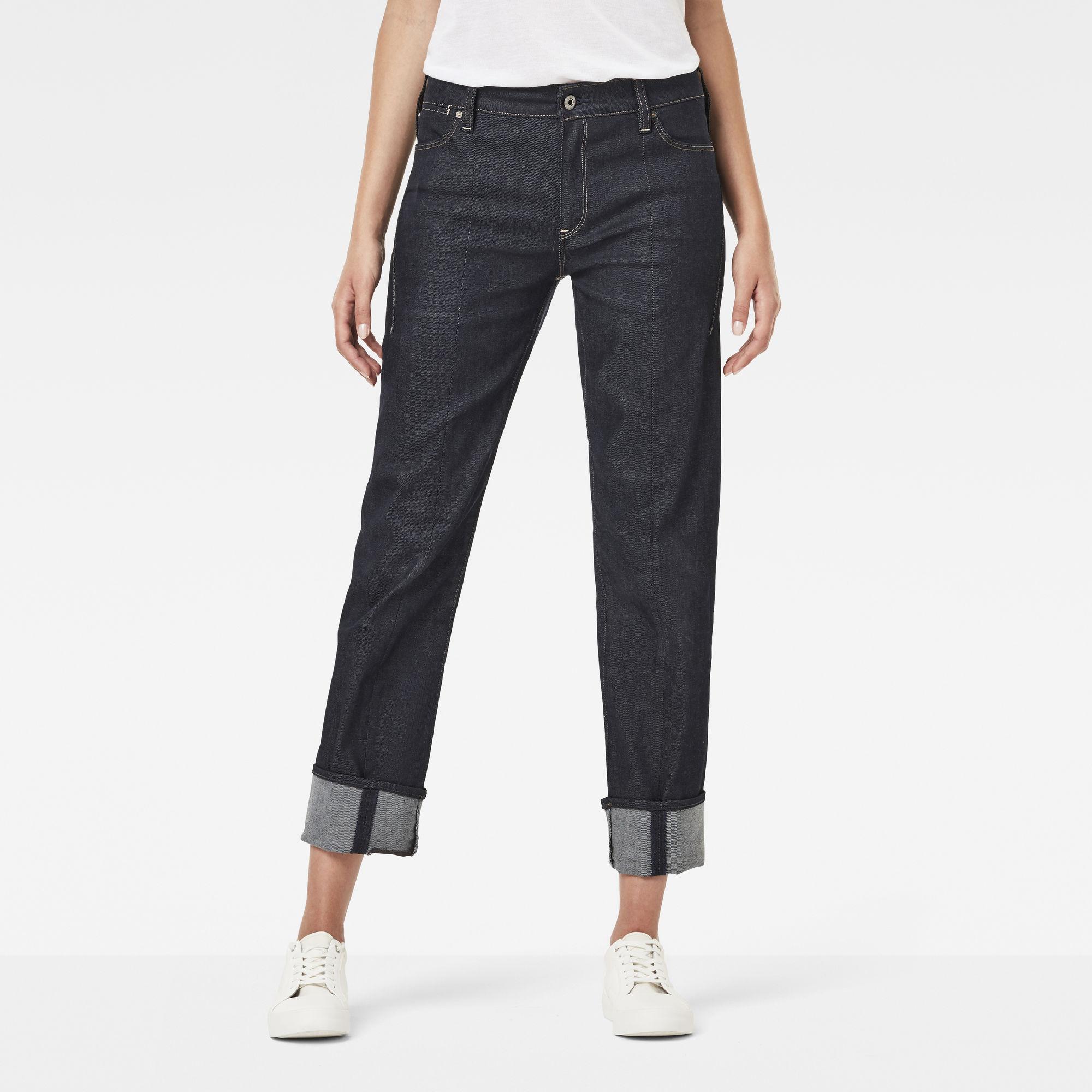 Lanc 3D High Waist Straight Prestored Jeans