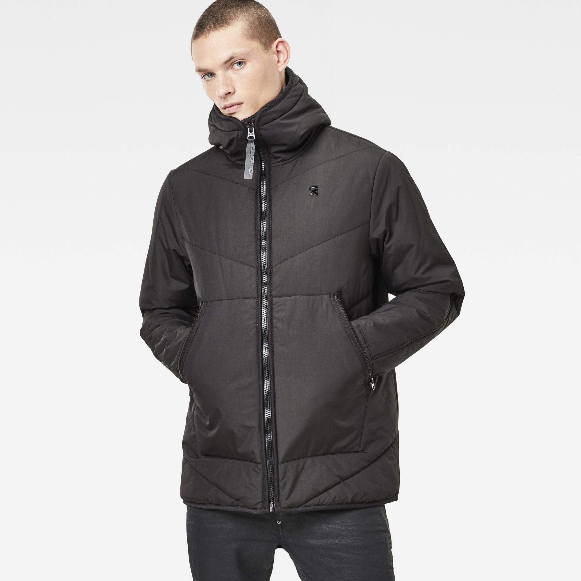 Strett Short Chevron Hooded Jacket