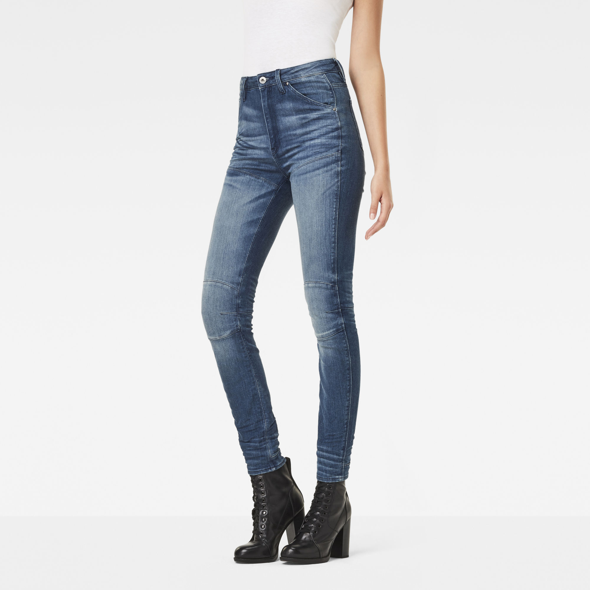 5620 G-Star Elwood Ultra High Waist Skinny Jeans