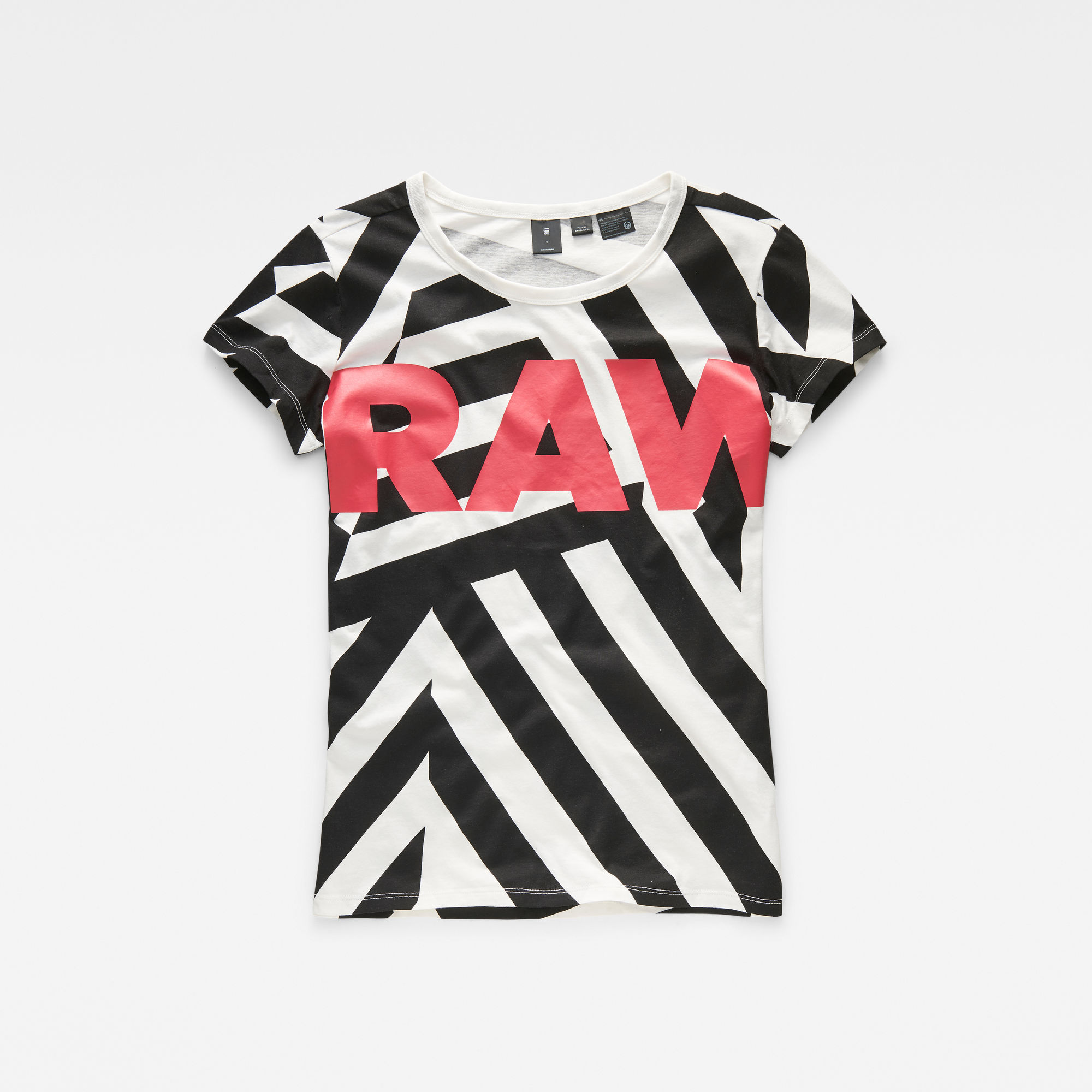 Dazzle Camouflage X25 Print Straight T-Shirt