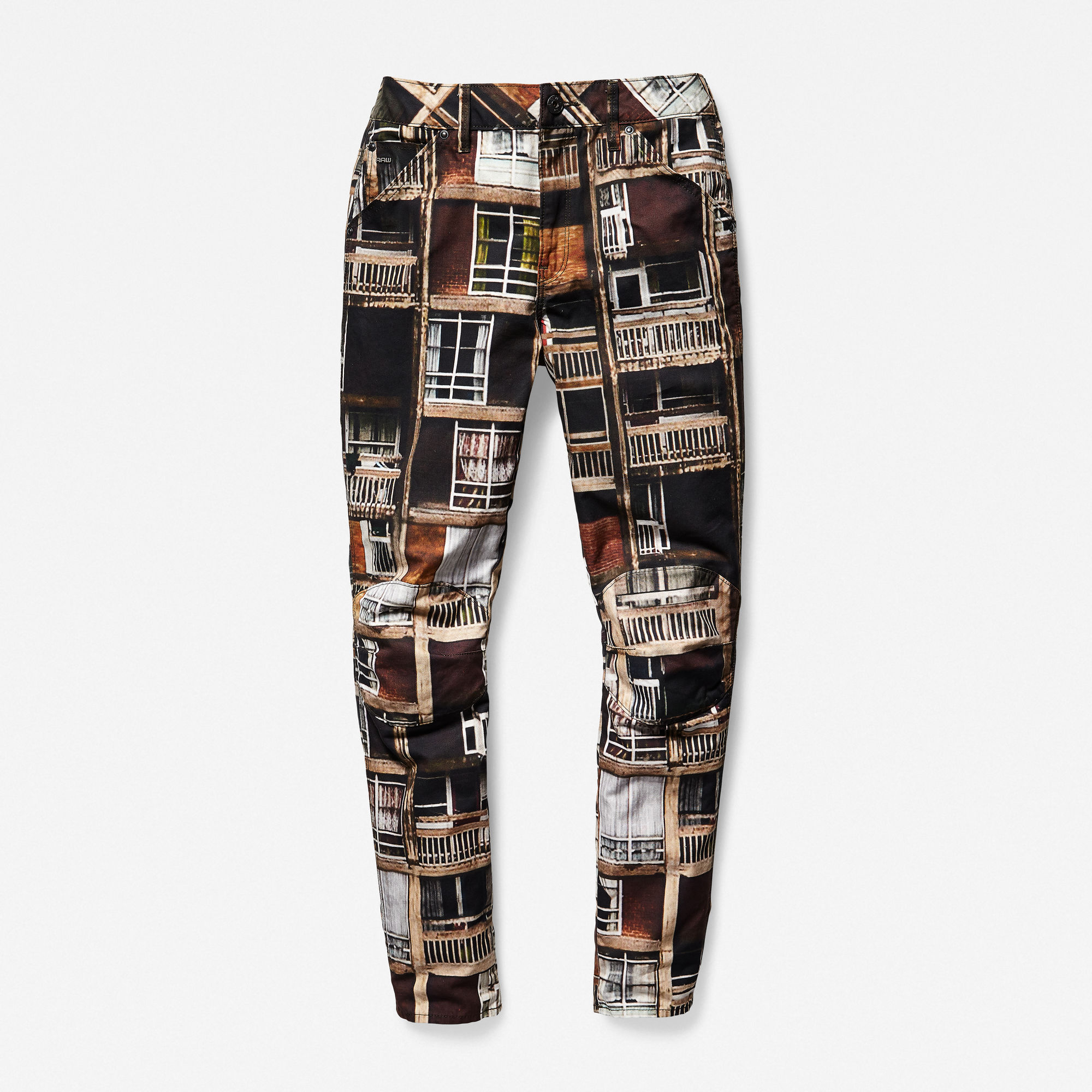 5622 3D Mid-Waist Boyfriend Color Jeans