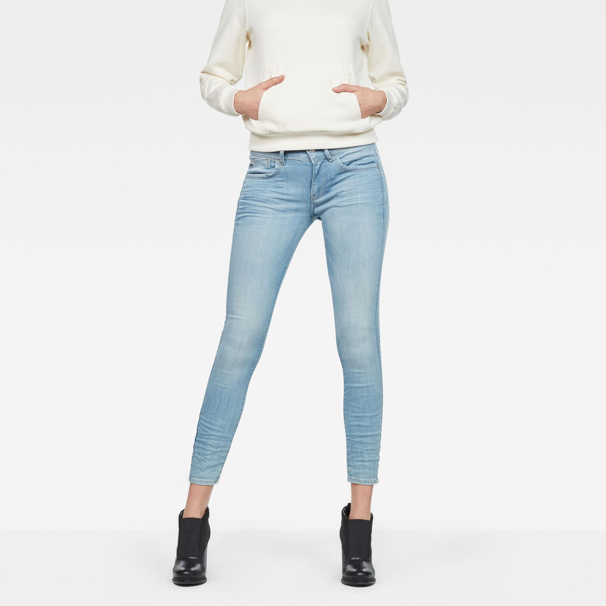 Lynn D-Mid Super Skinny Ankle Jeans