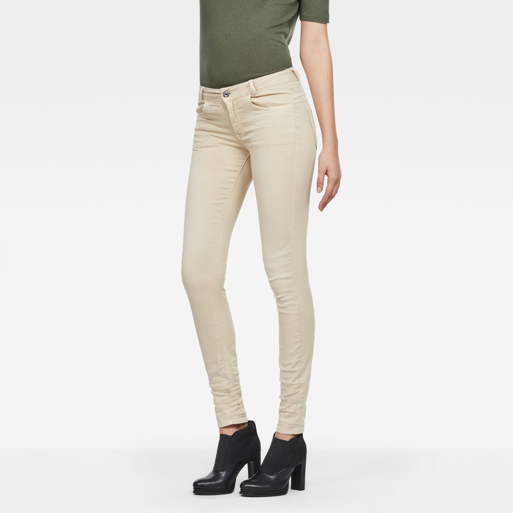 D-Staq 5-Pocket Mid waist Skinny Color Jeans