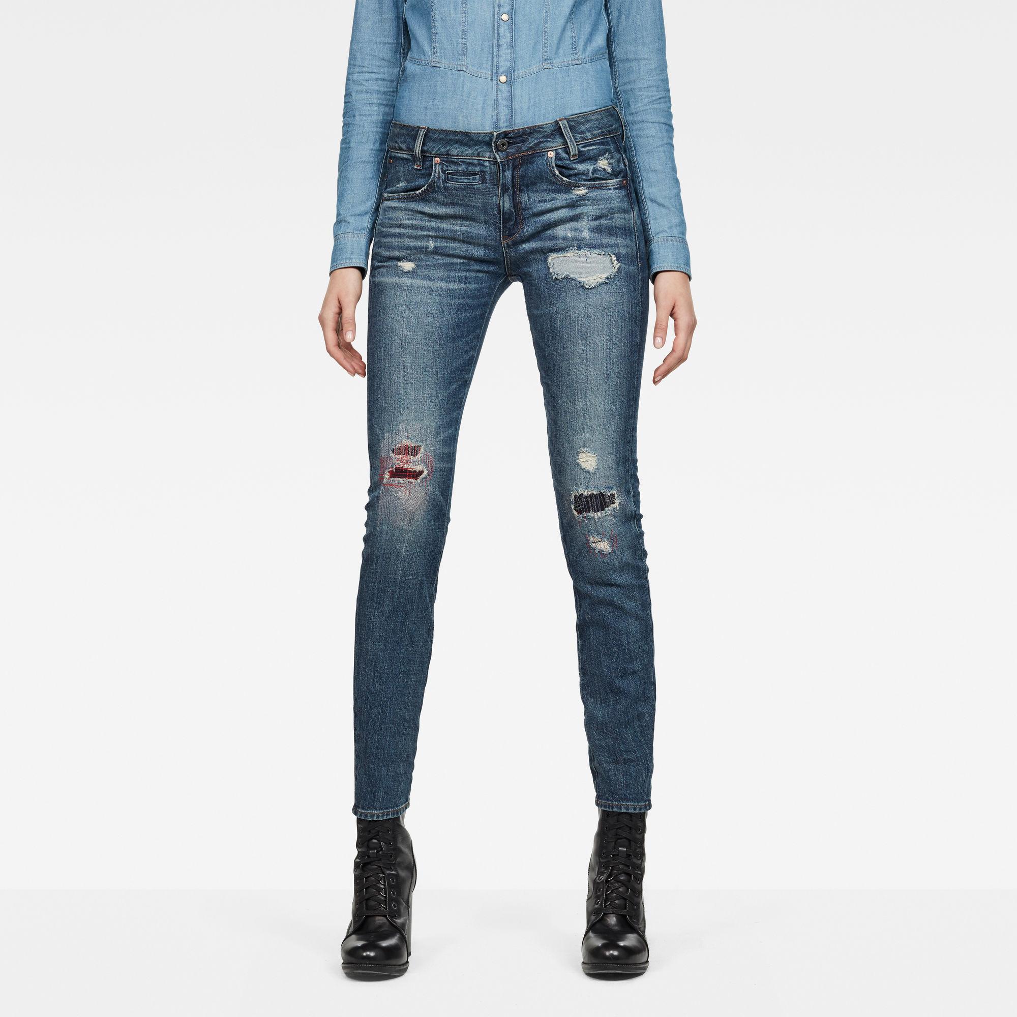 Raw Essentials D-Staq 5-Pocket Mid-Waist Skinny Jeans