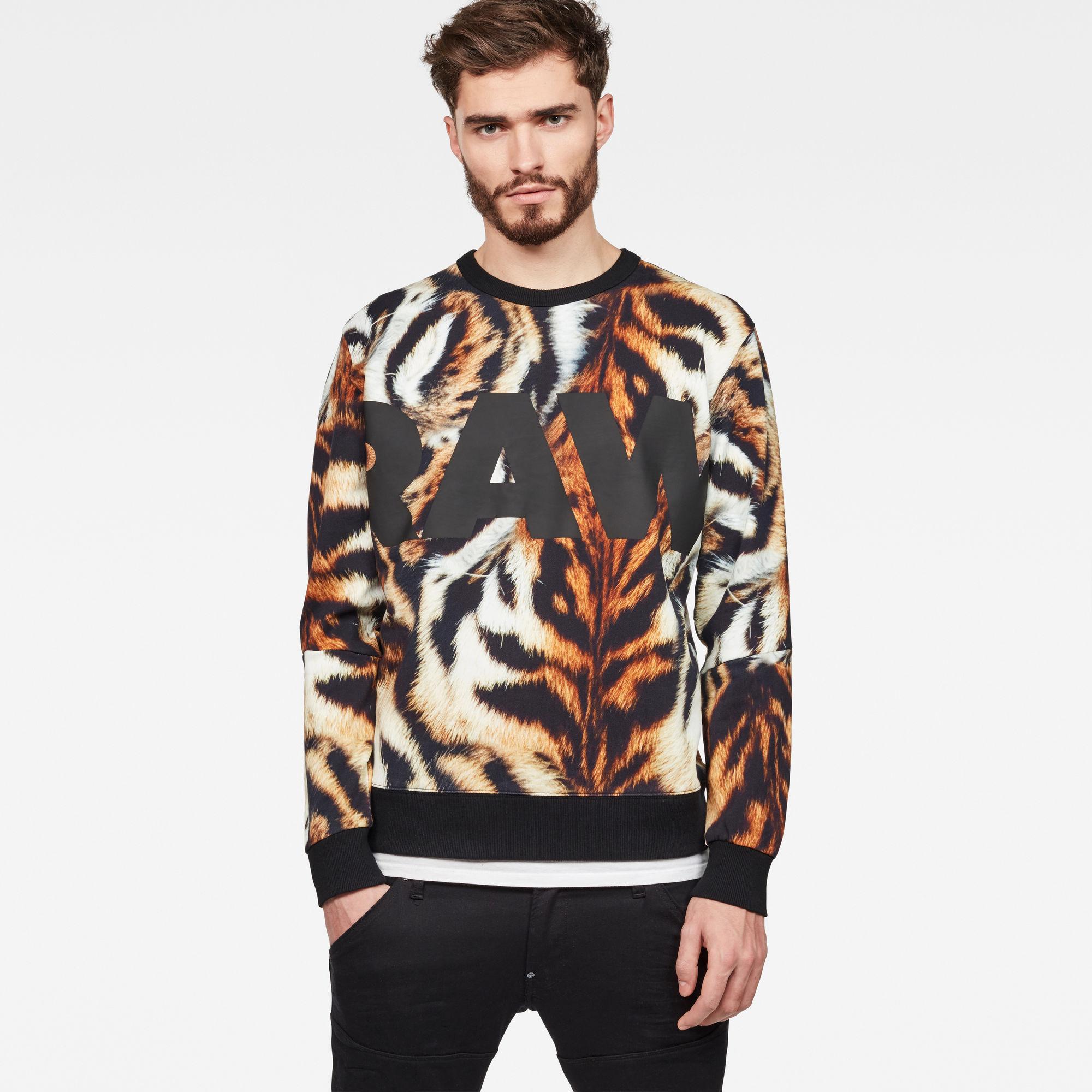 Mostom Oversized Tiger Stalt Deconstructed Sweater
