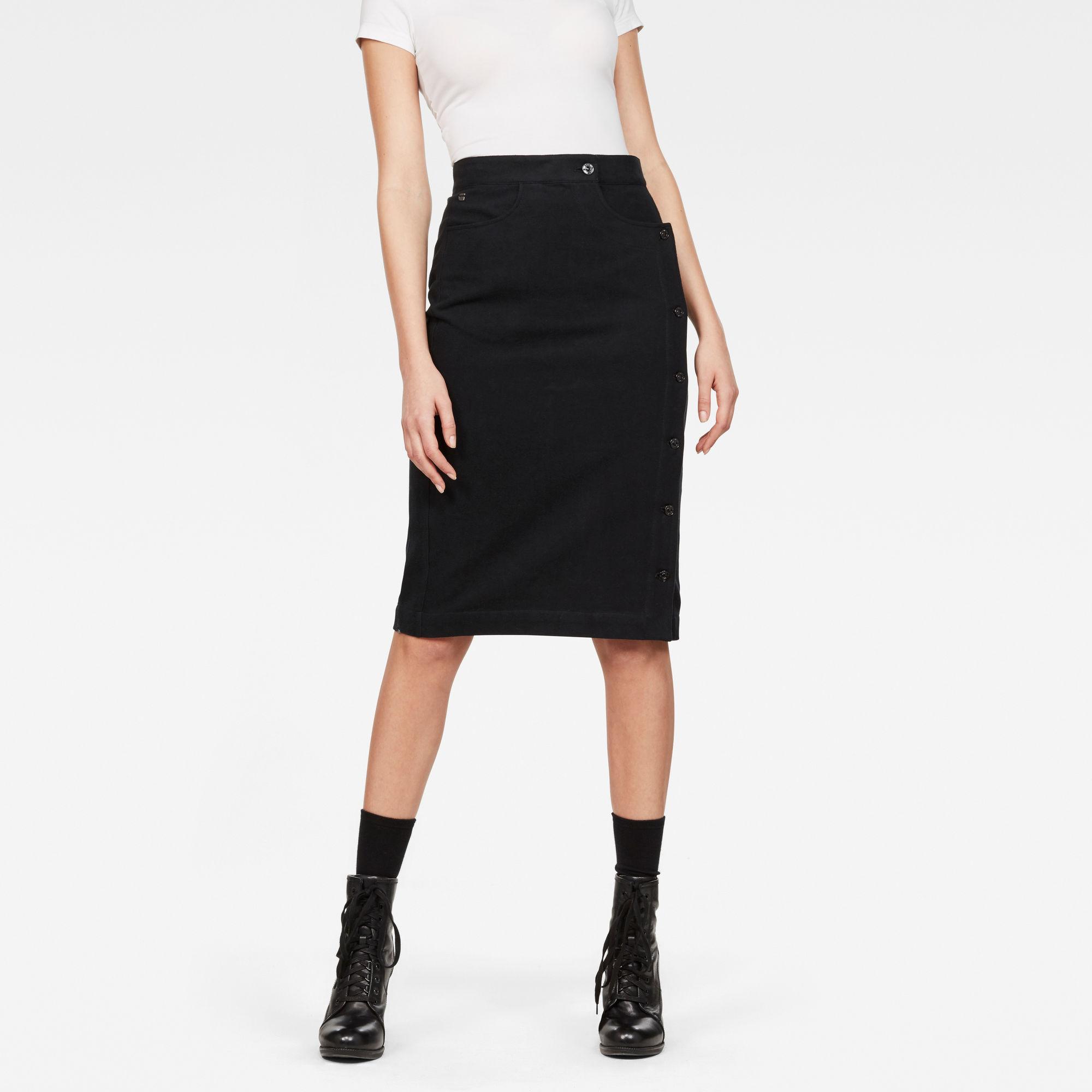 Deconstructed D-Staq Ultra High-Waist Skirt