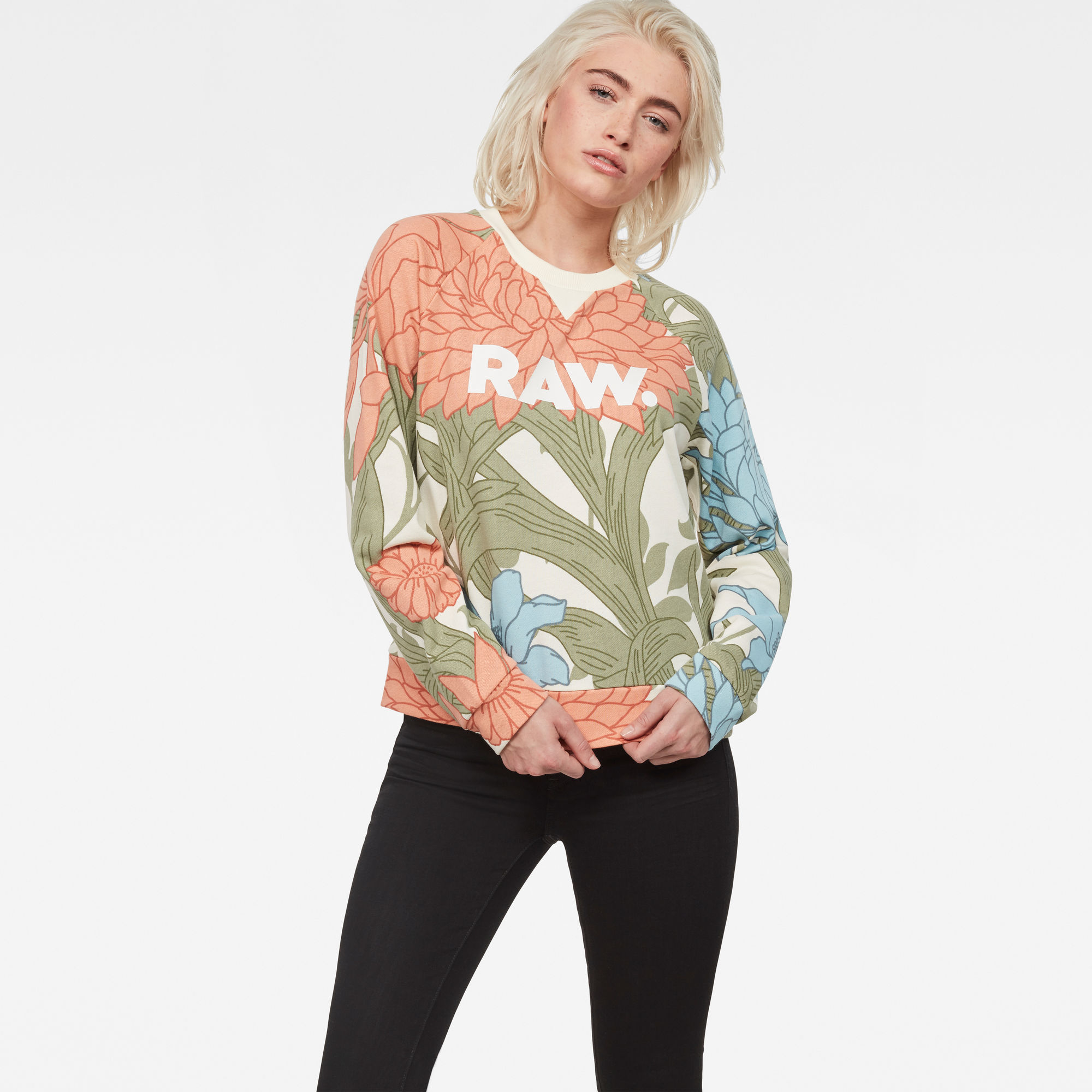 Image of G Star Raw A-Craft Cropped Sweater
