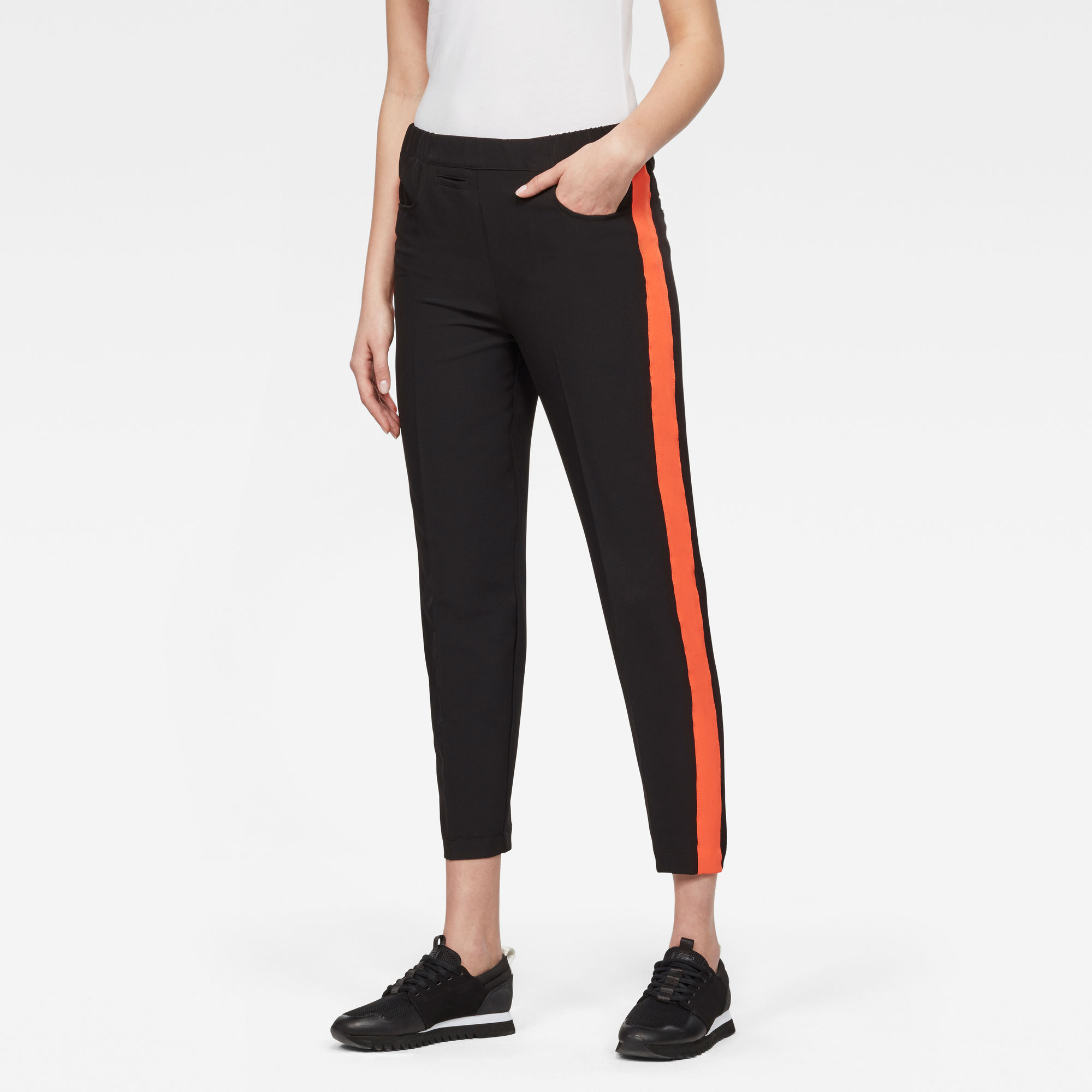 Image of G Star Raw D-staq High-Waist Skinny Pull On Pants
