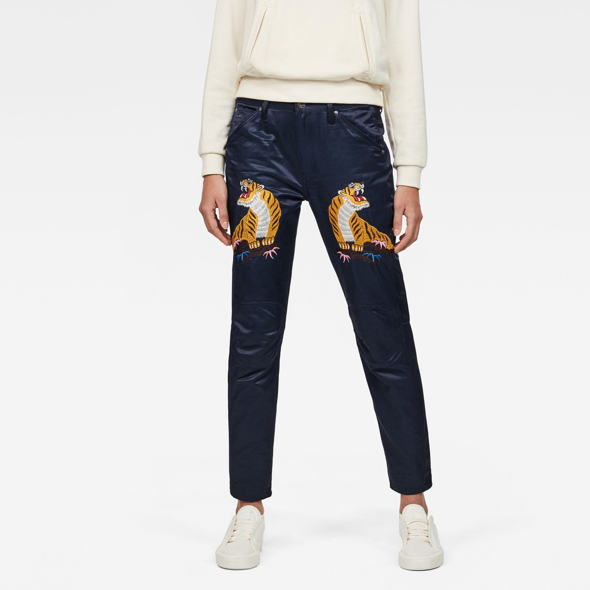 5622 3D Mid waist Boyfriend Color Jeans