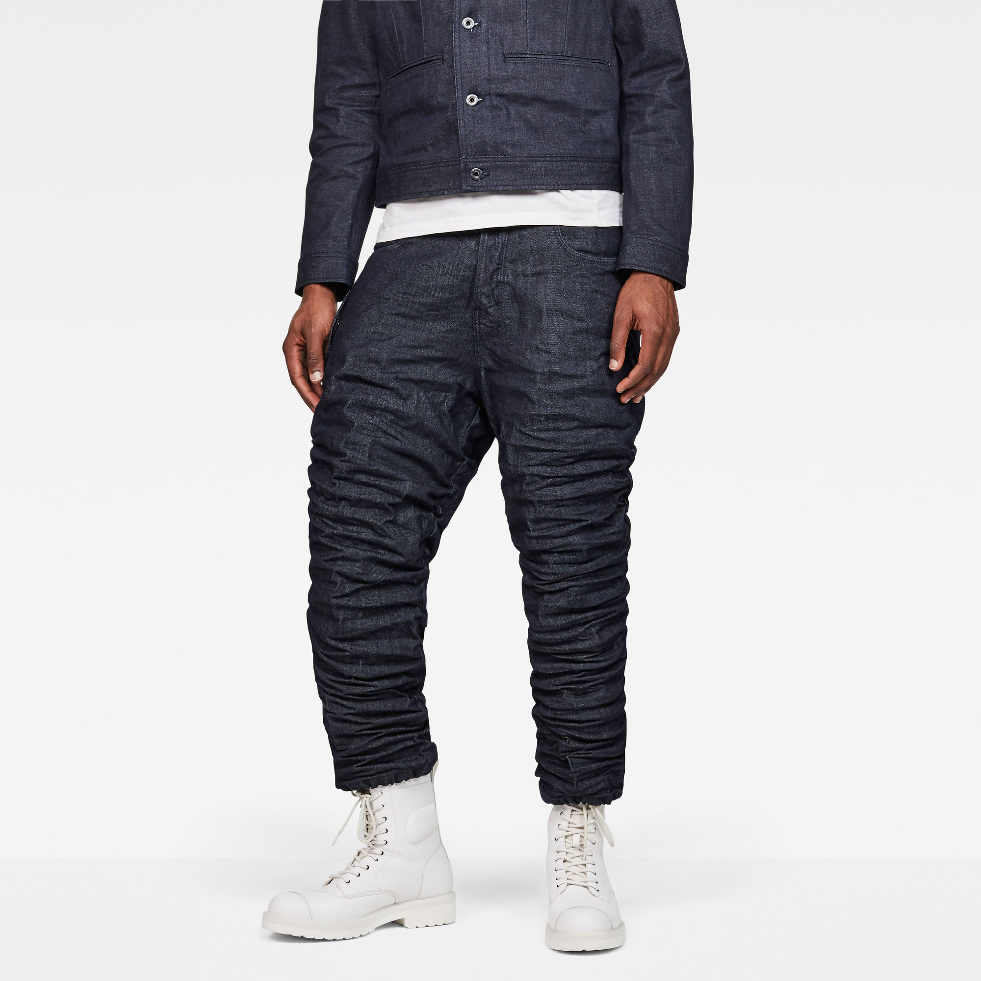 Raw Essentials Staq Parachute 3D Loose Cropped Pants