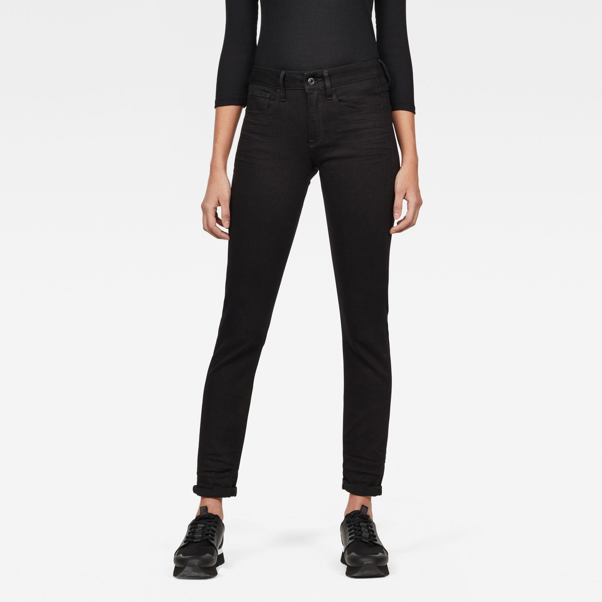 Imagem de 3301 Deconstructed Mid-Waist Straight Jeans