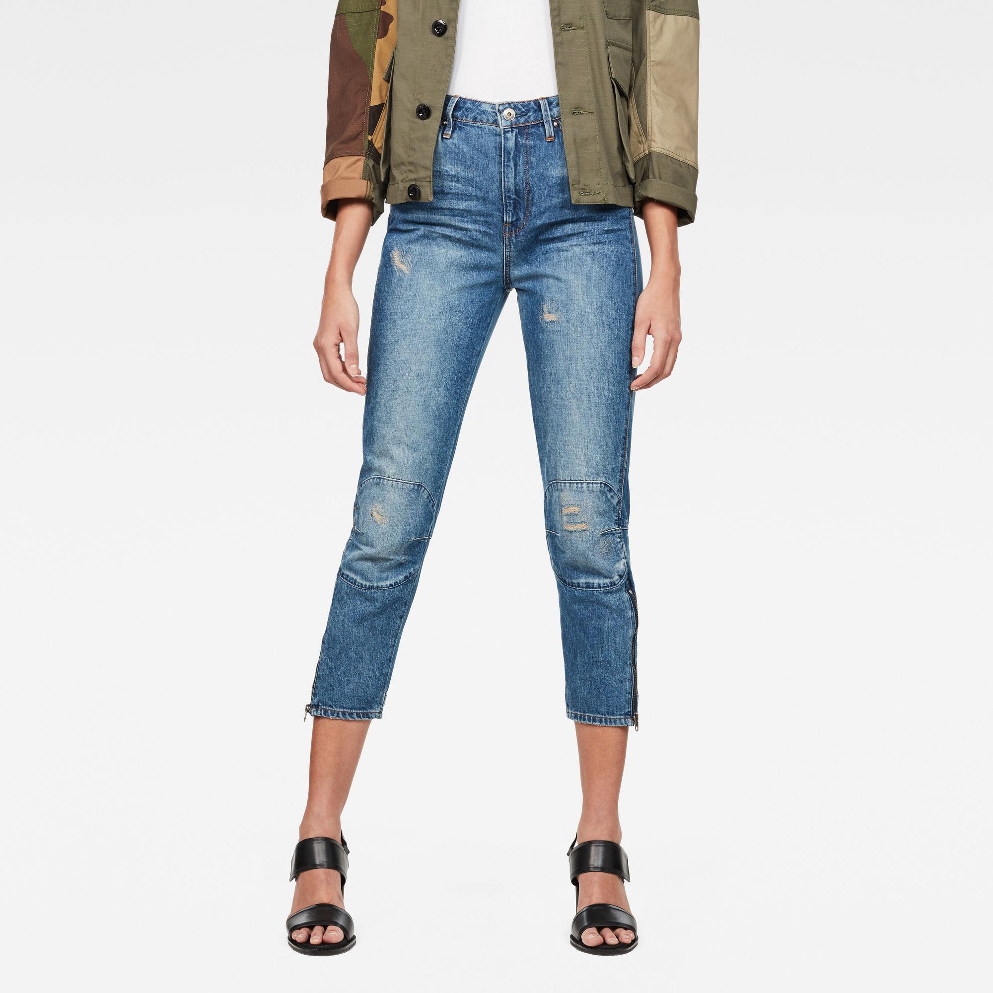 G-Star Elwood 5622 Ultra High waist Straight 7 8-Length Jeans