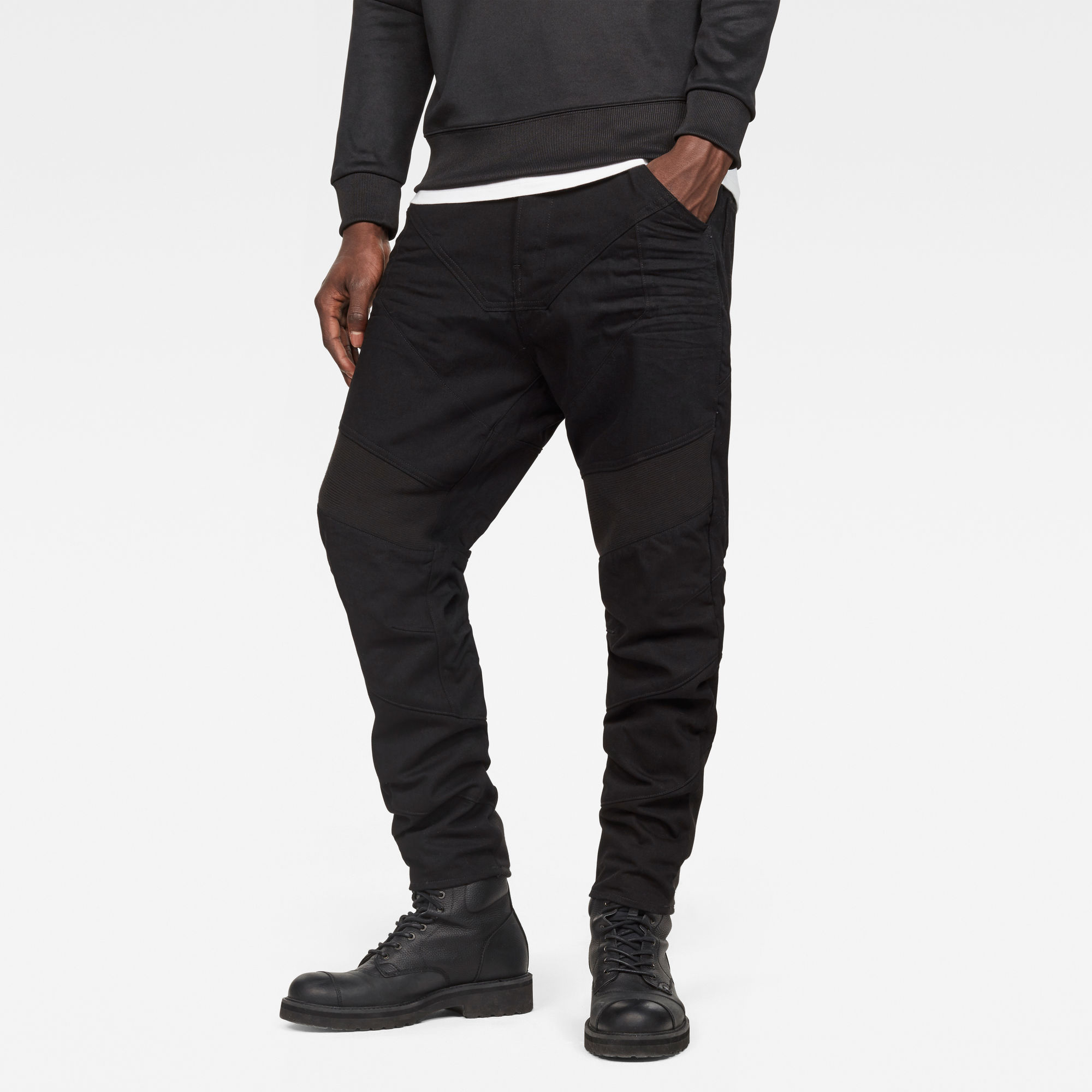 Motac-X Deconstructed Loose Cropped Jeans