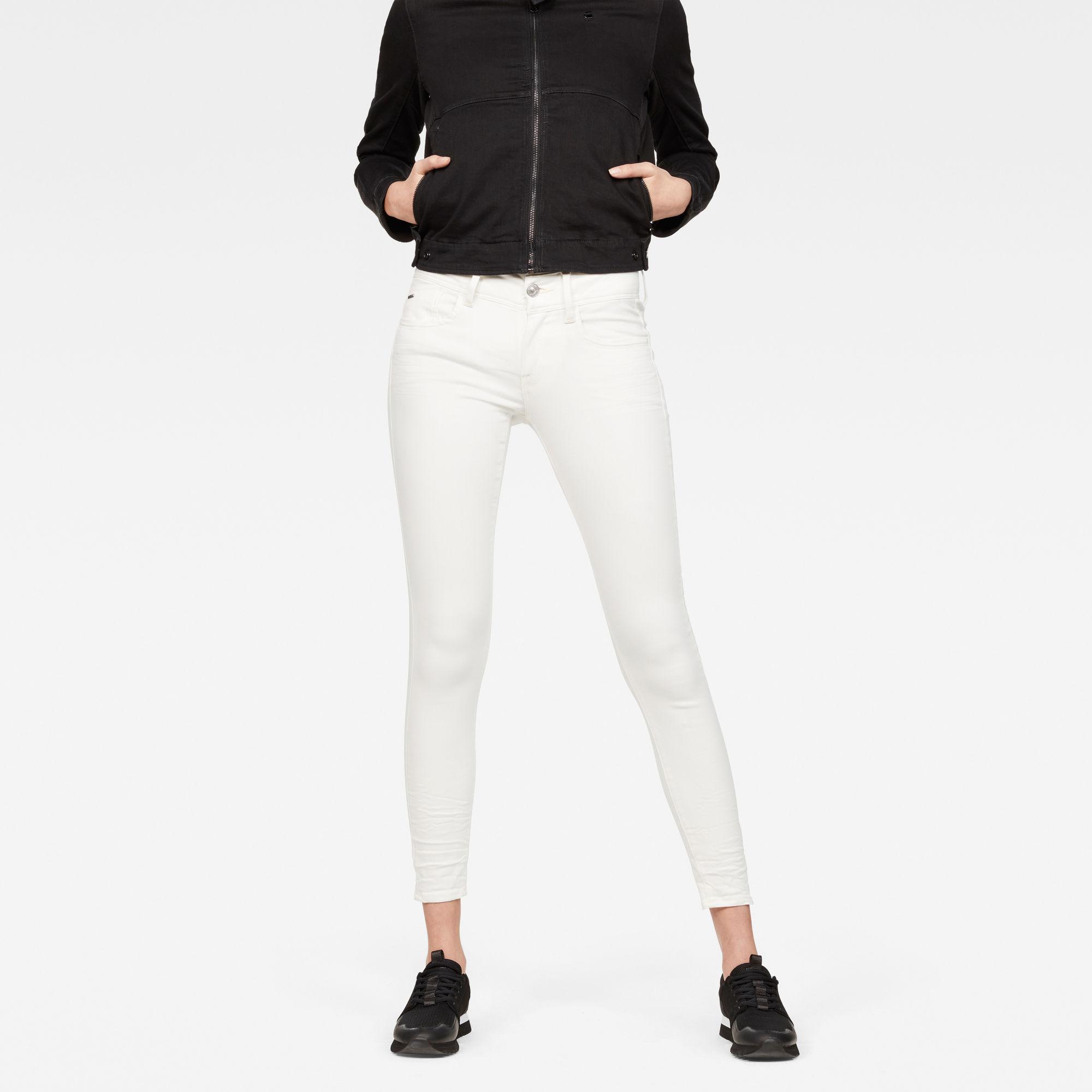 Lynn D-Mid waist Super Skinny Ankle Jeans
