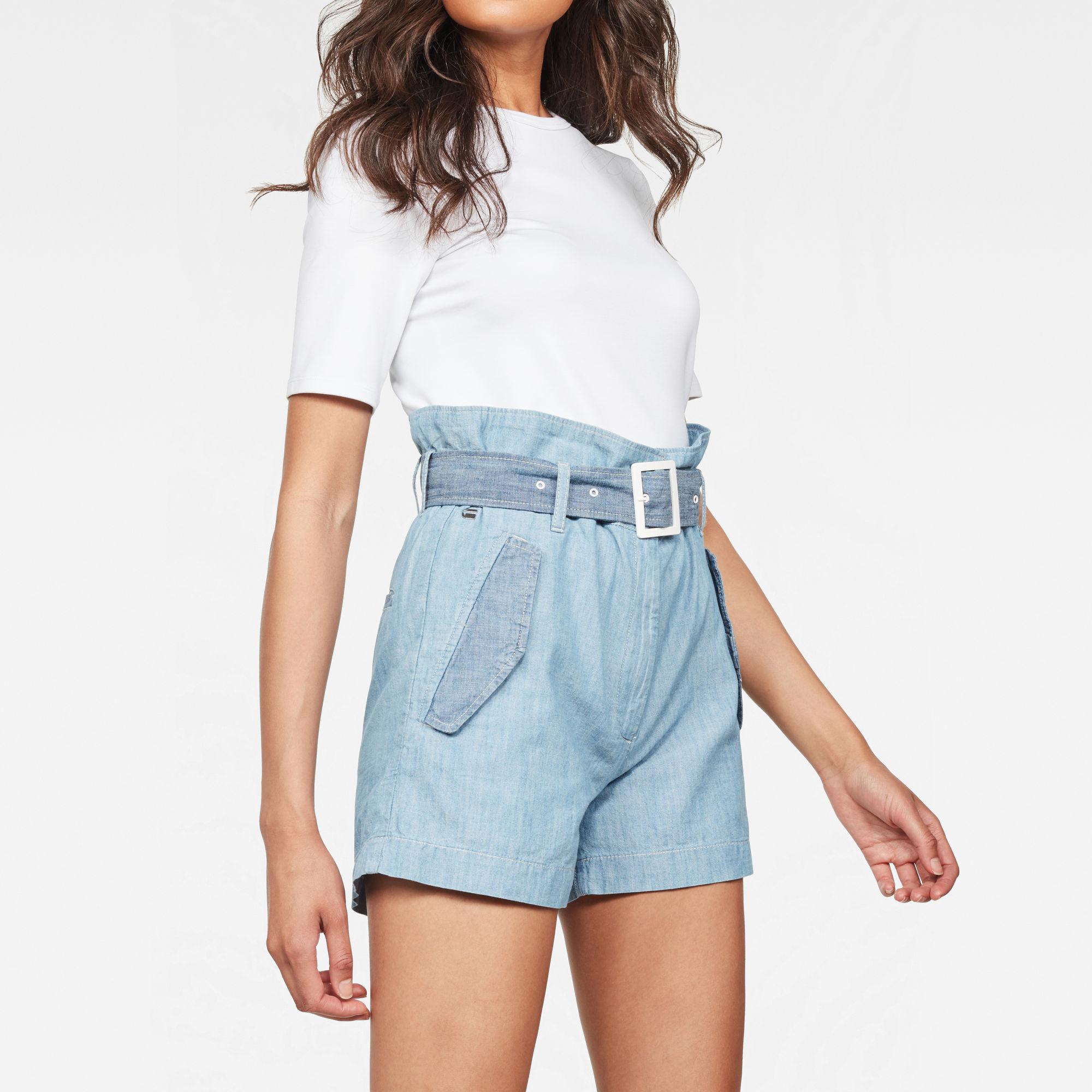 Rovic High waist Paperbag Shorts