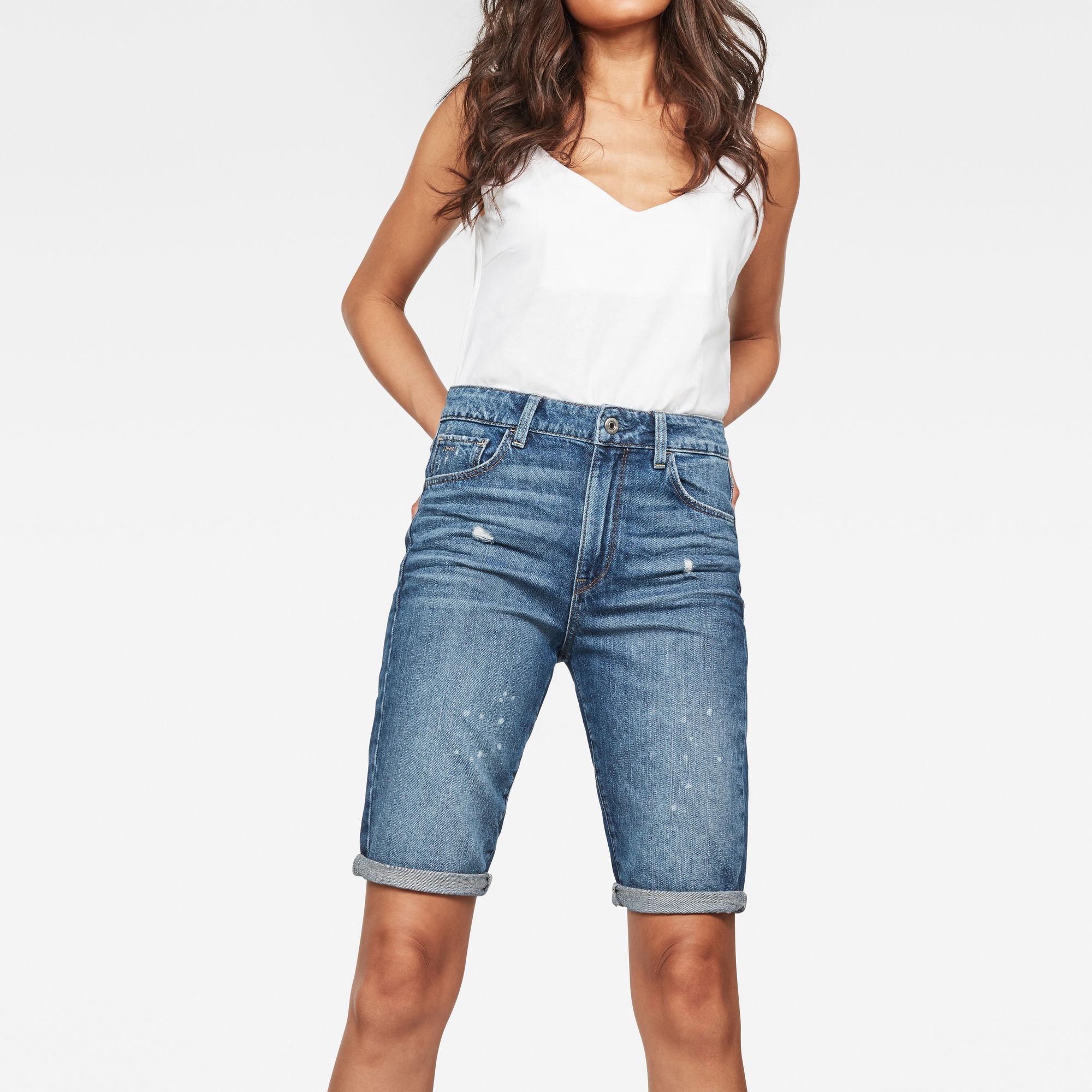 3301 High waist Straight Ripped Shorts