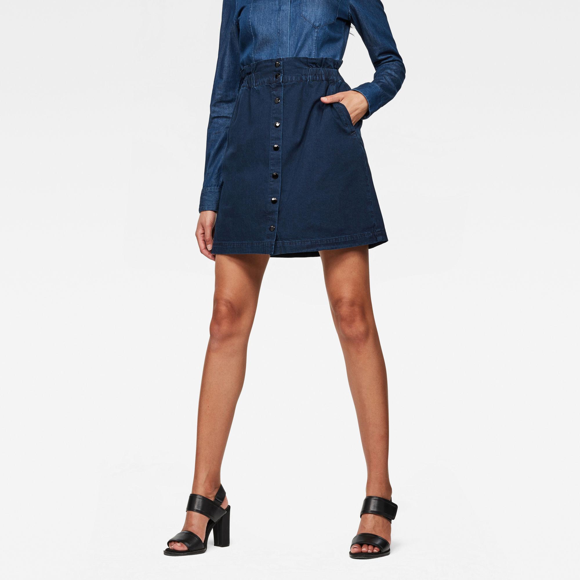 Image of G Star Raw Bronson Paperbag Mini Skirt
