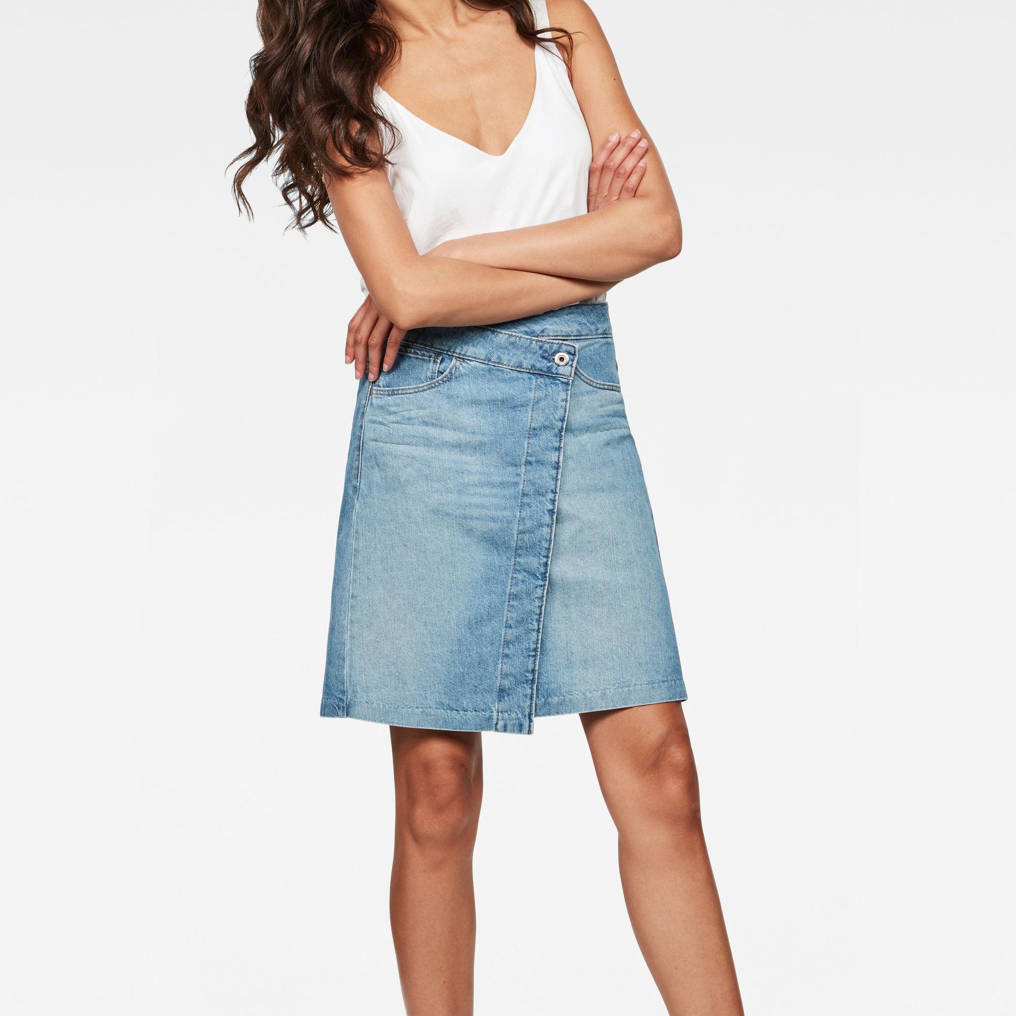 Image of Arc Wrap Skirt