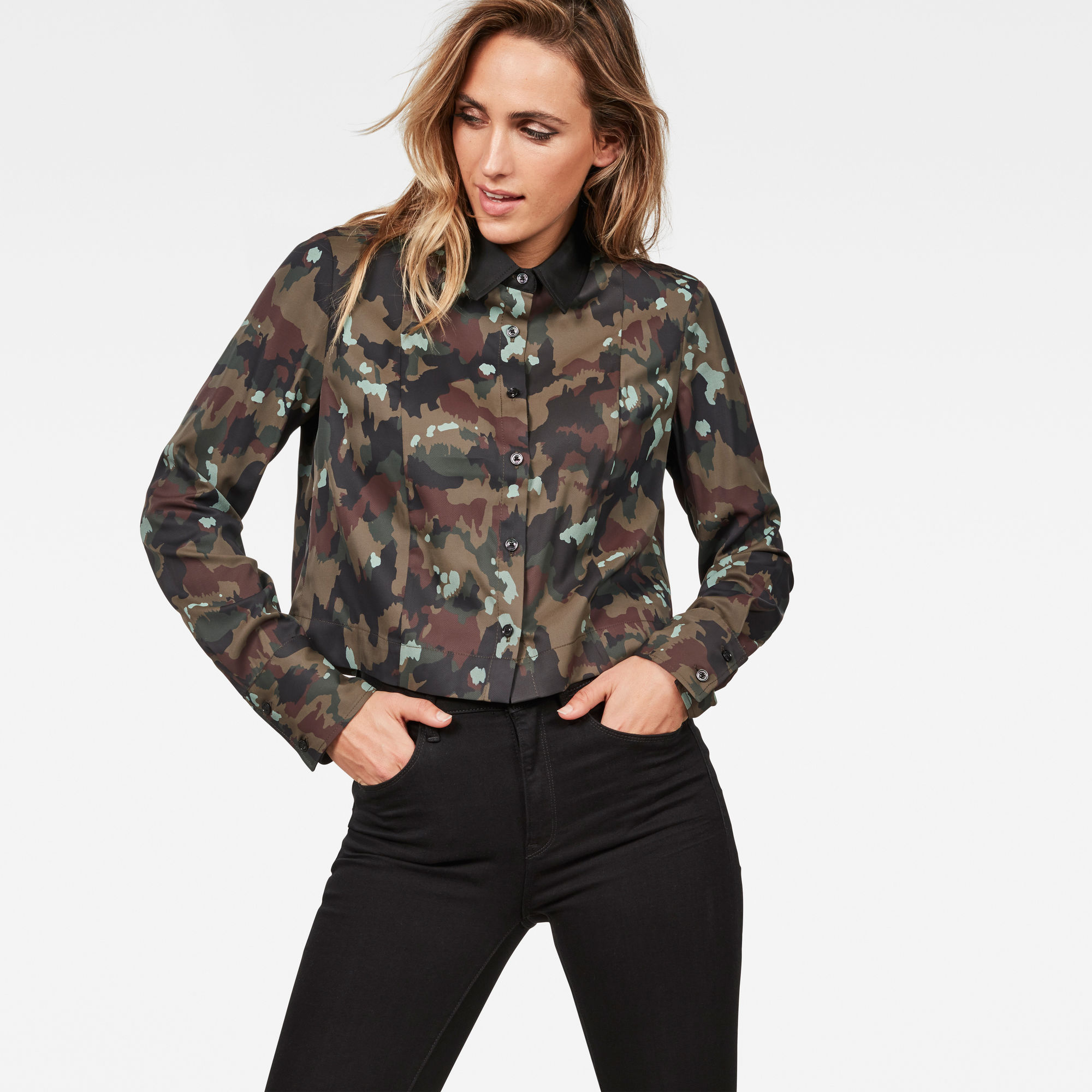 Image of G Star Raw Vodan Cropped Shirt