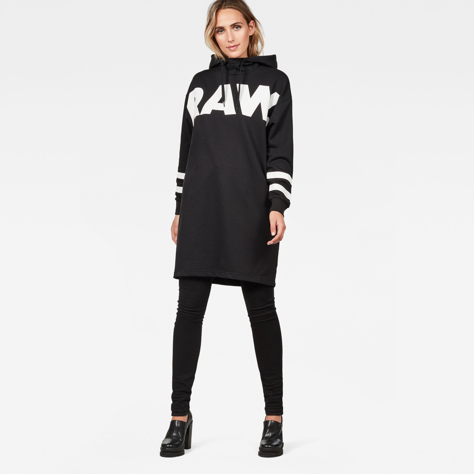 Image of G Star Raw Scolla Oversized Hooded Sweat Dress