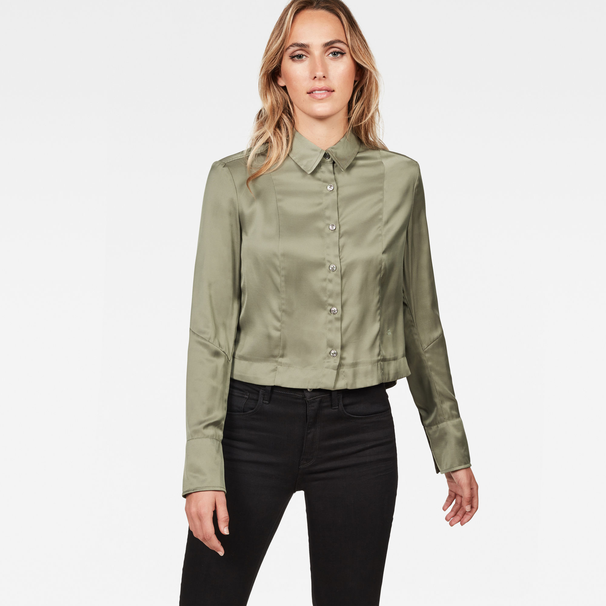 Image of G Star Raw Vodan Dc Cropped Open Back Shirt