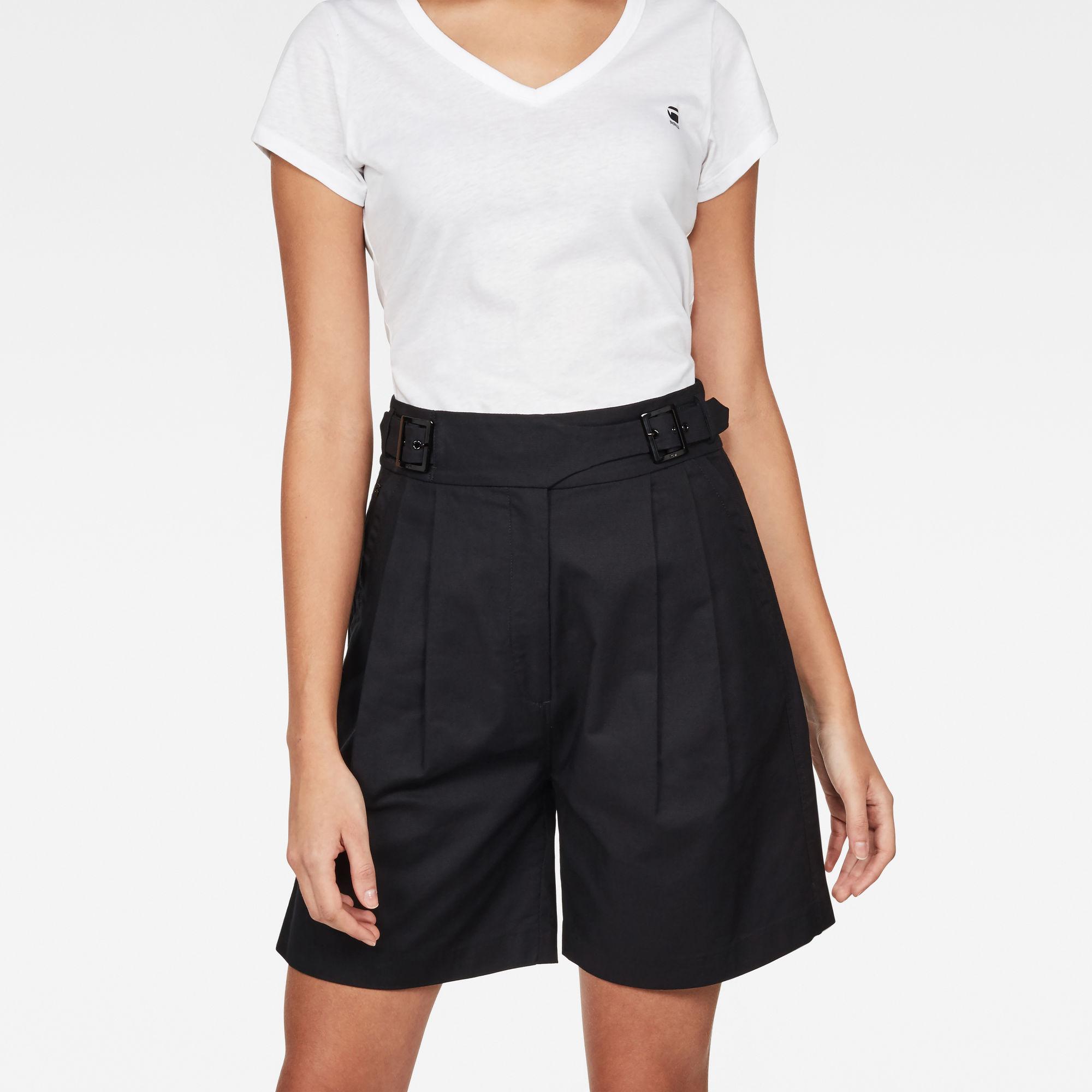 Bristum Pleated High waist Bermuda Shorts