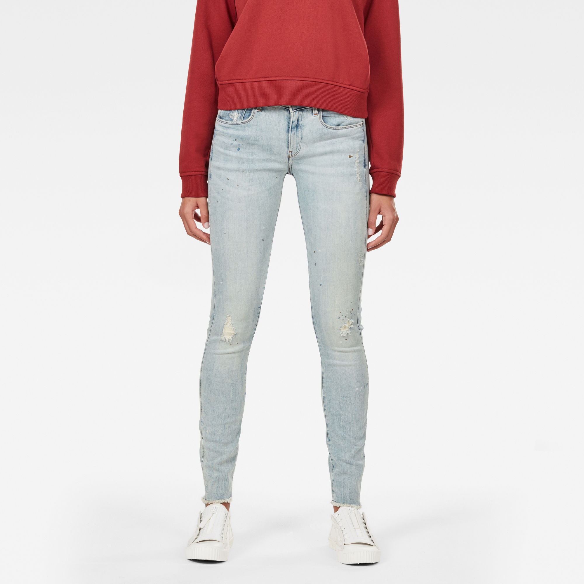 3301 Deconstructed Mid Waist Skinny Rp Jeans
