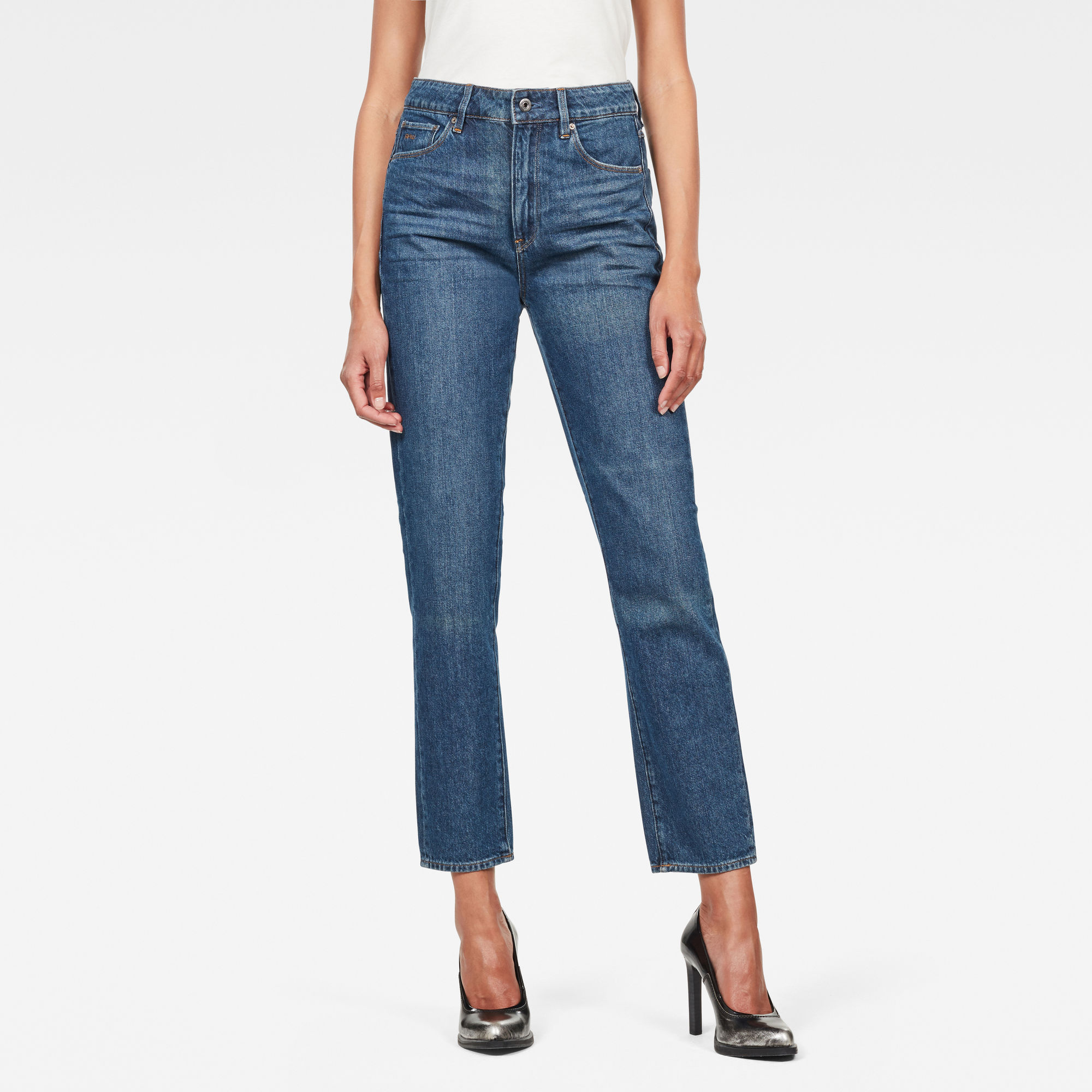 Image of 3301 High waist Straight 90s Ankle-Cut Jeans