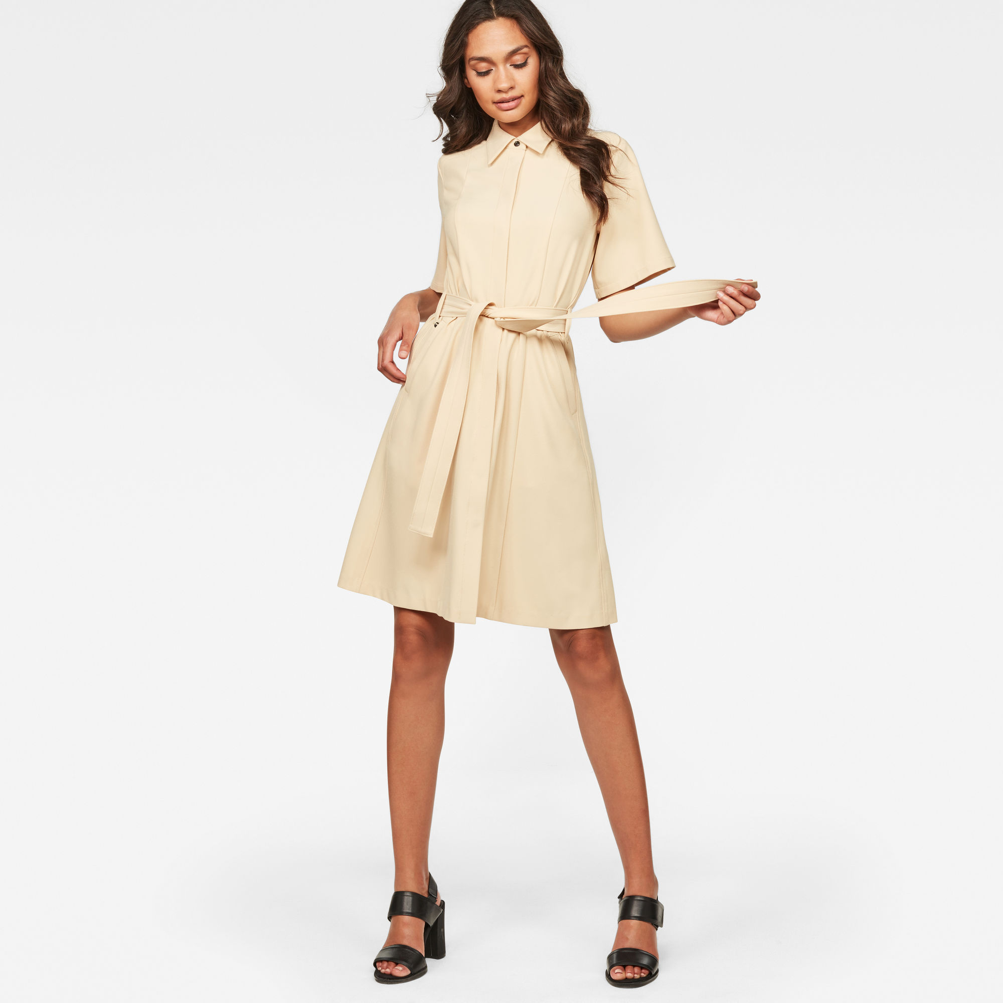 Image of G Star Raw Bristum Deconstructed Shirt Dress