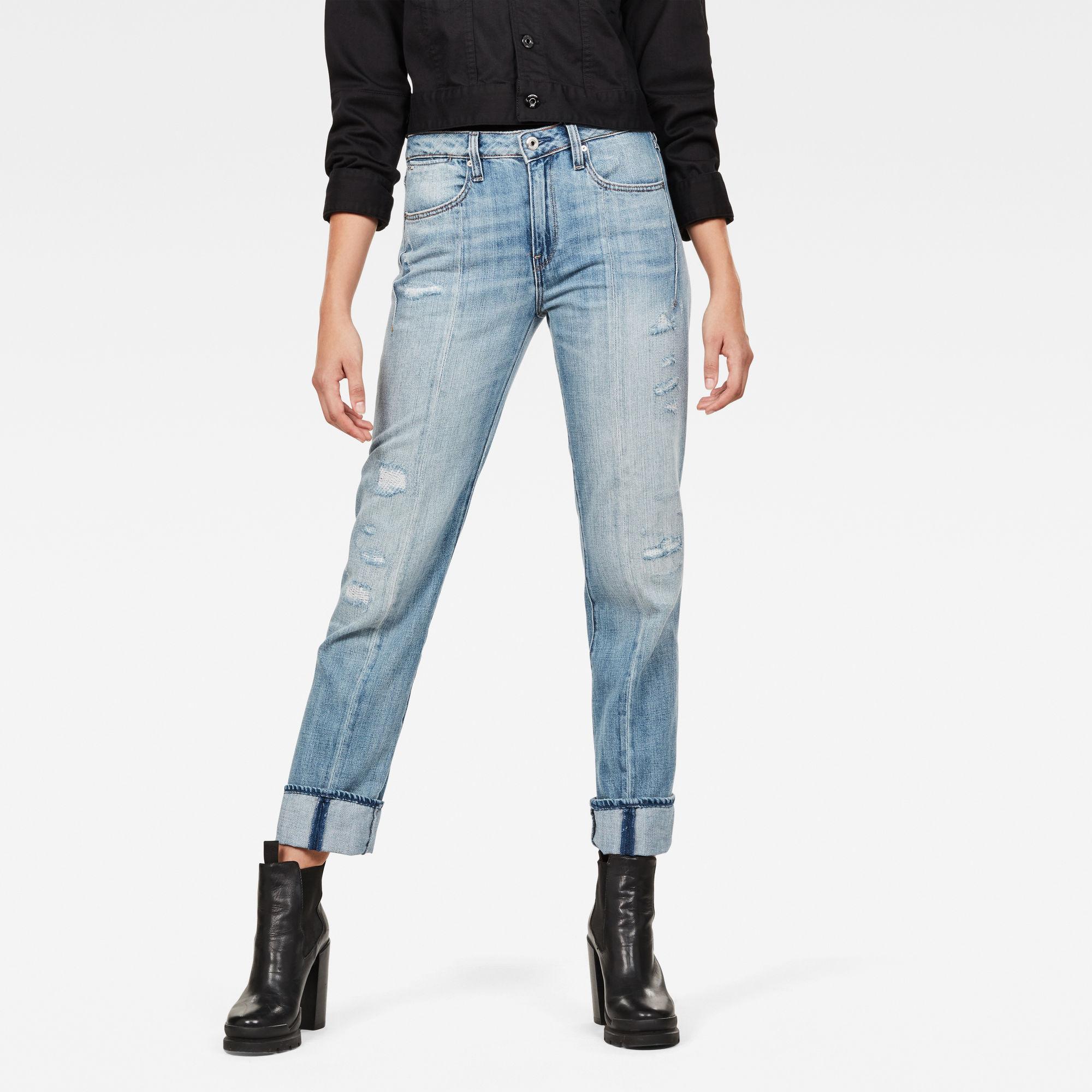 Image of G Star Raw Lanc 3D High Waist Straight Jeans