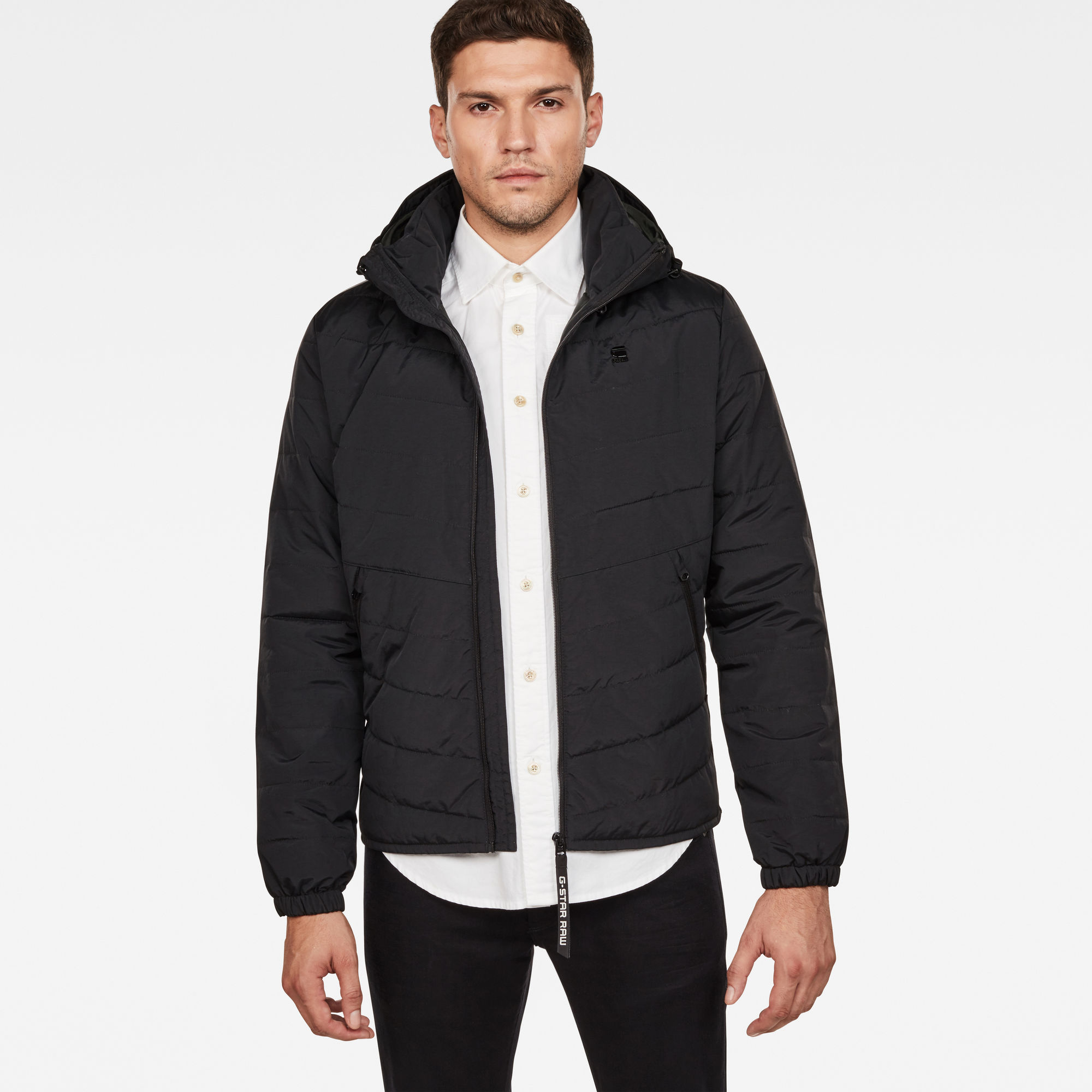 Image of G Star Raw Attacc Quilted Hooded Jacket