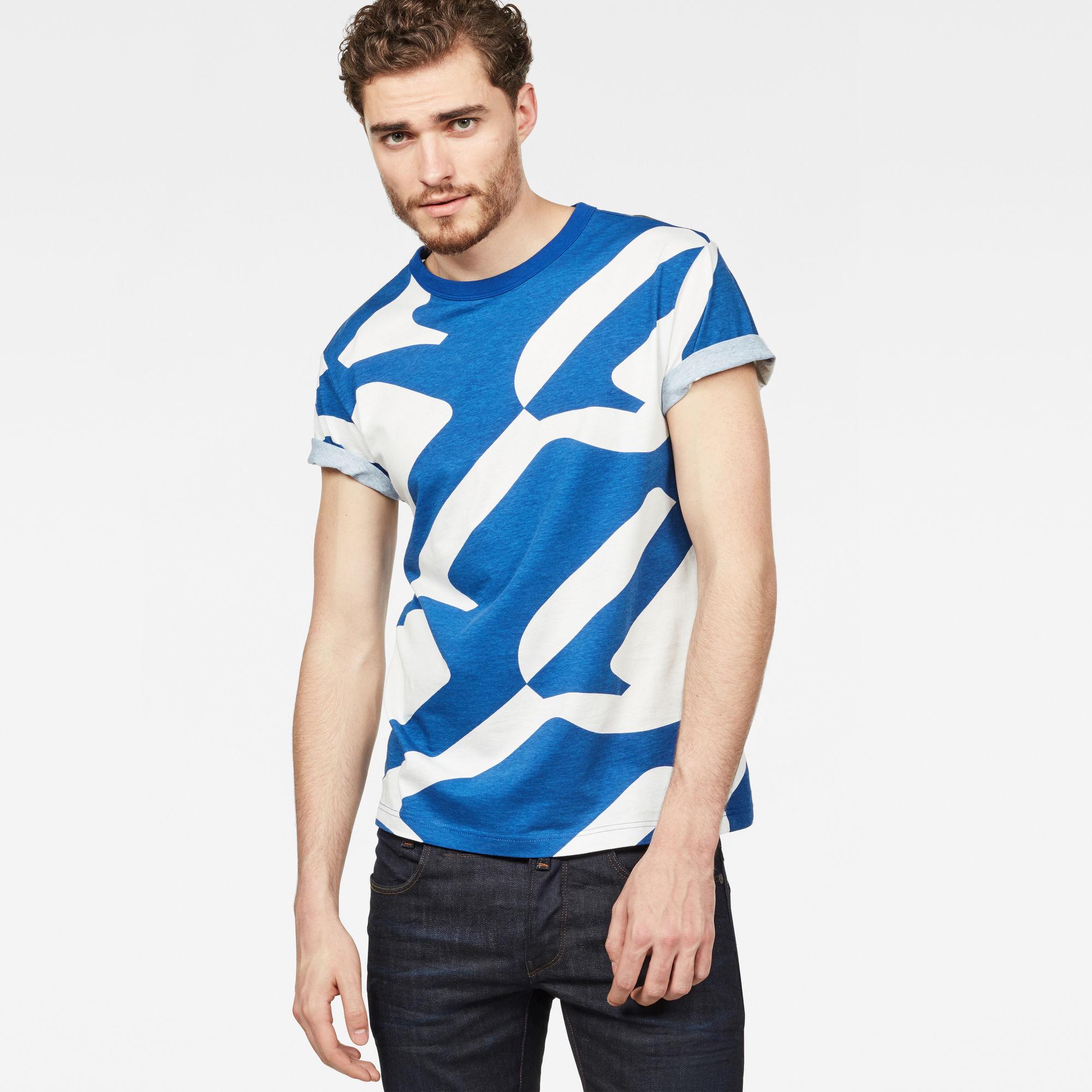 Image of G Star Raw Hyce Regular Pattern T-Shirt